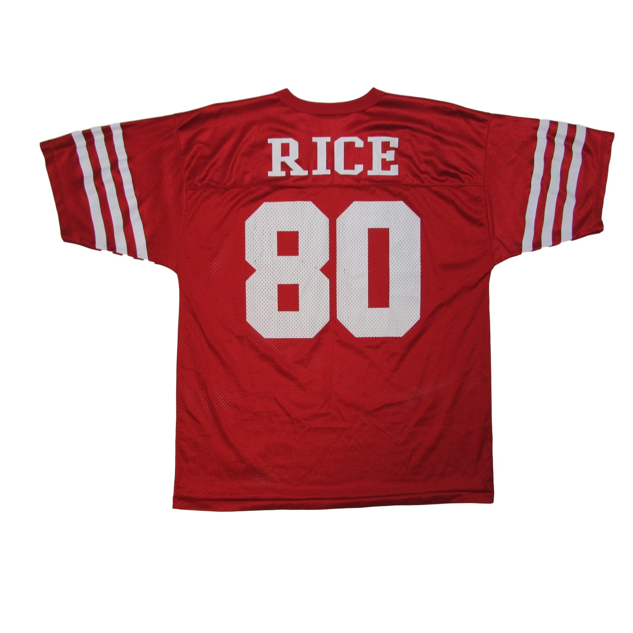 San Francisco 49ers Jerry Rice Logo Athletic Football Jersey Sz L
