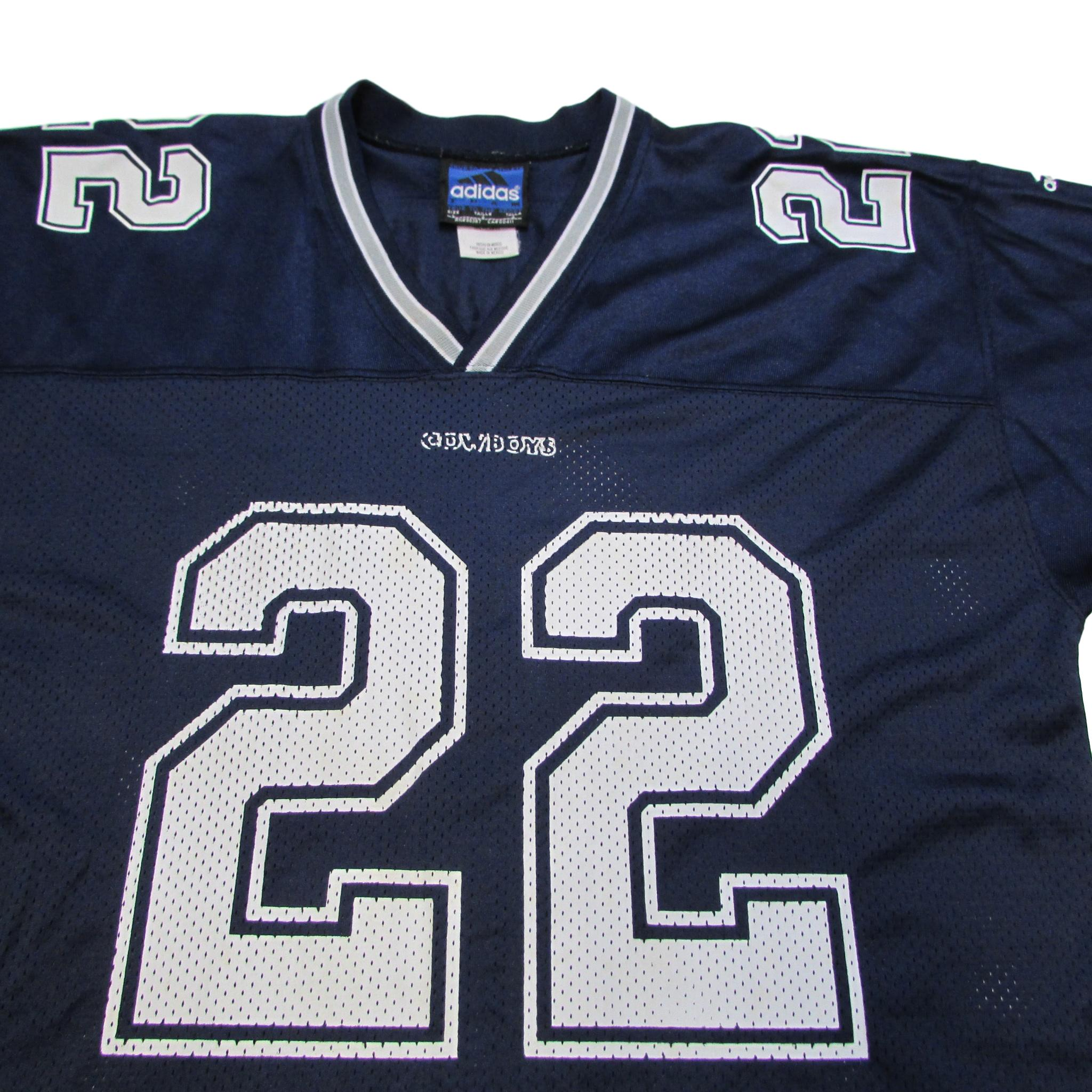 Dallas Cowboys Emmitt Smith Vintage Football Jersey Adidas Sz L