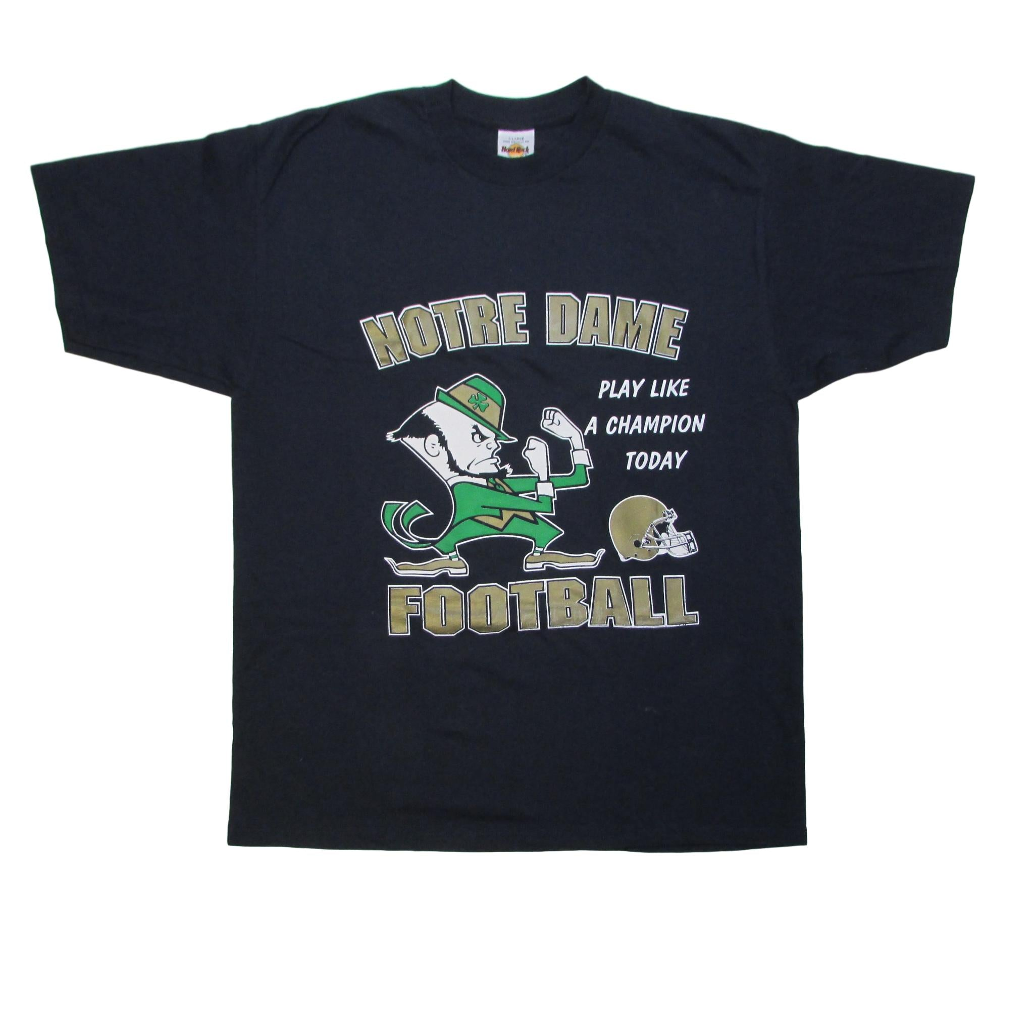 Norte Dame Fighting Irish Football T-Shirt Fight Like A Champ Sz XL