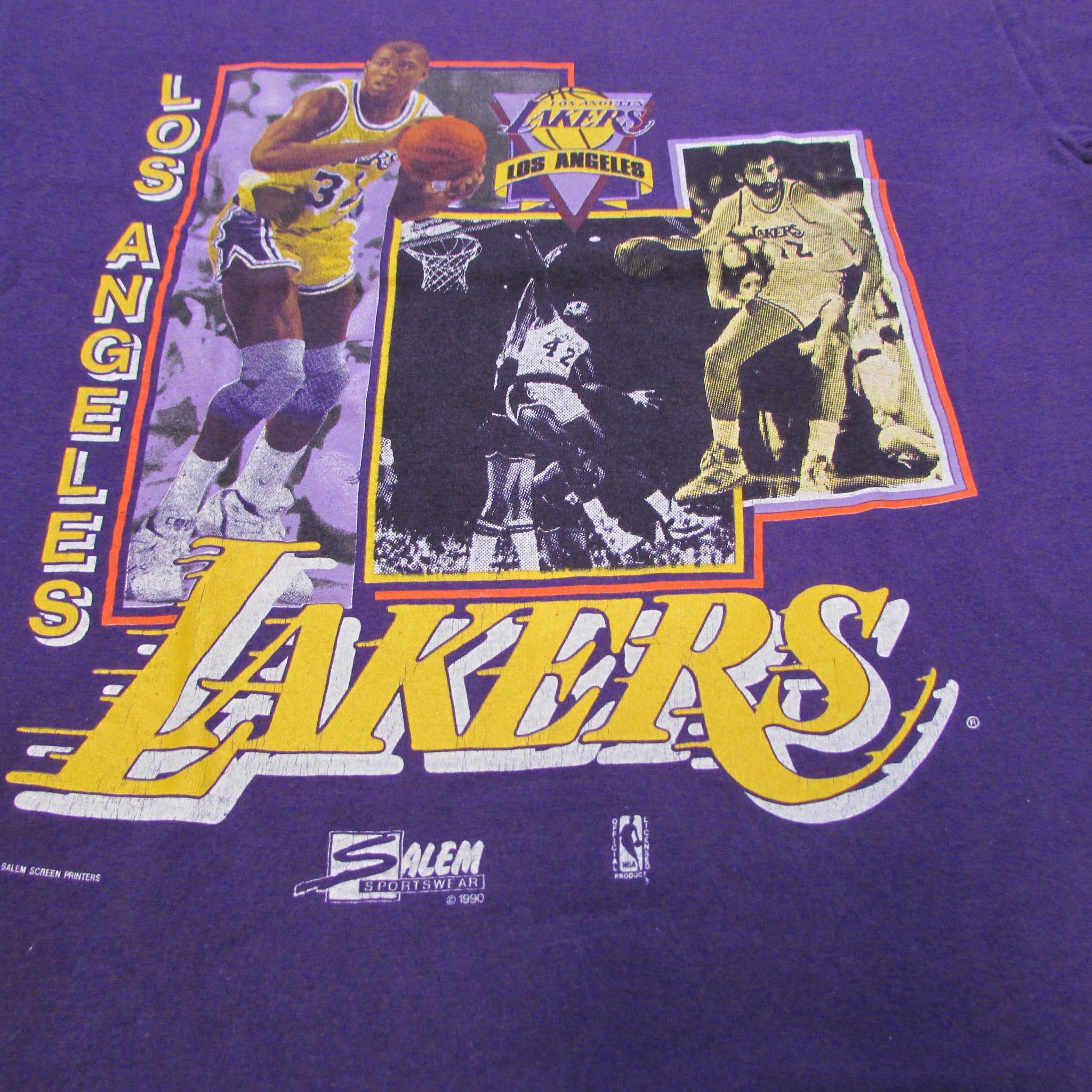 Los Angeles Lakers Showtime Lakers Vintage Basketball T-Shirt Sz M