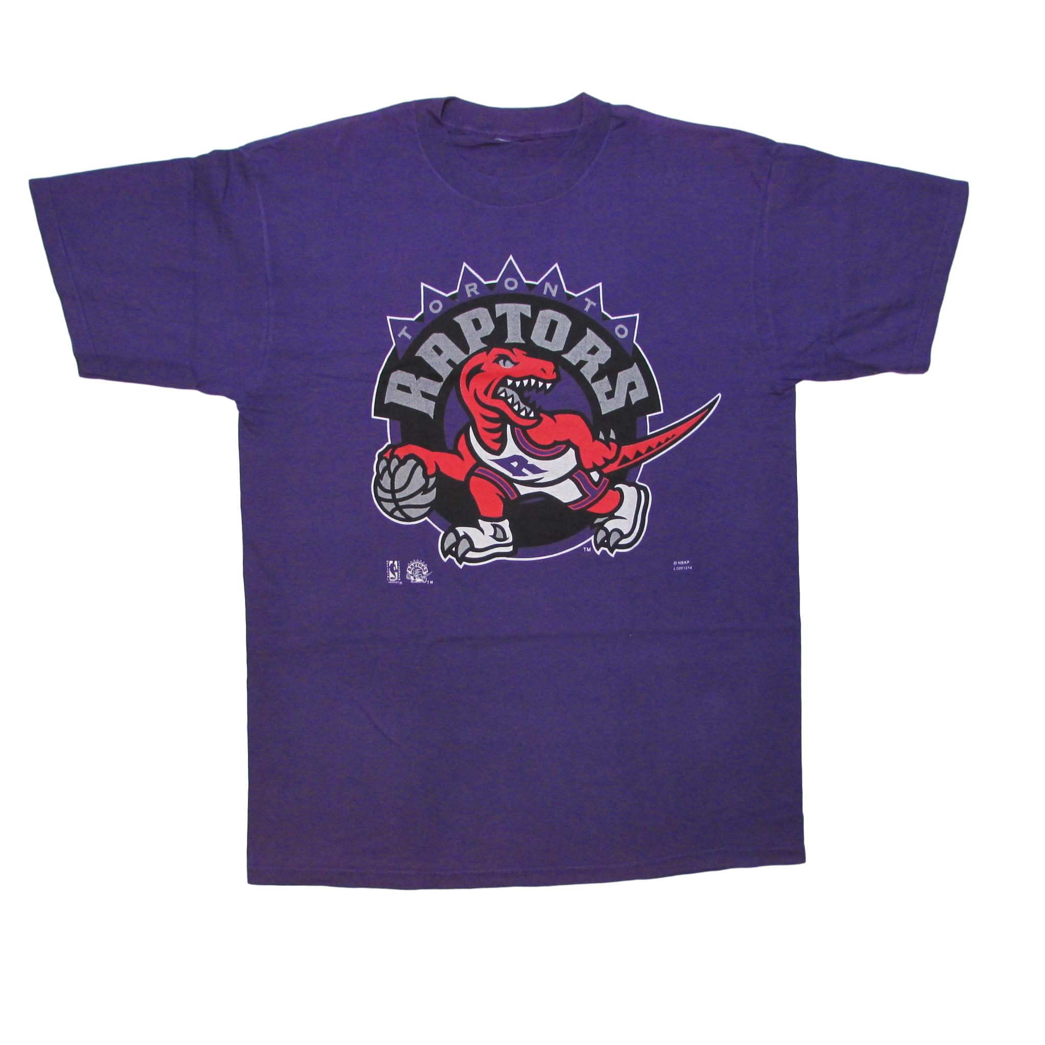Toronto Raptors Big Logo Basketball T-Shirt 1996