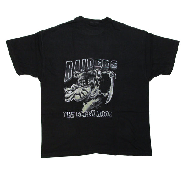 Oakland Raiders The Black Hole Vintage Football T-Shirt Sz XXL