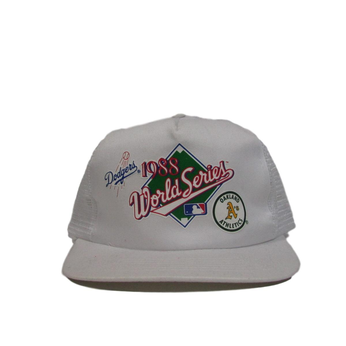 Los Angeles Dodgers & Oakland Athletics 1988 World Series Deadstock Trucker Snapback Hat