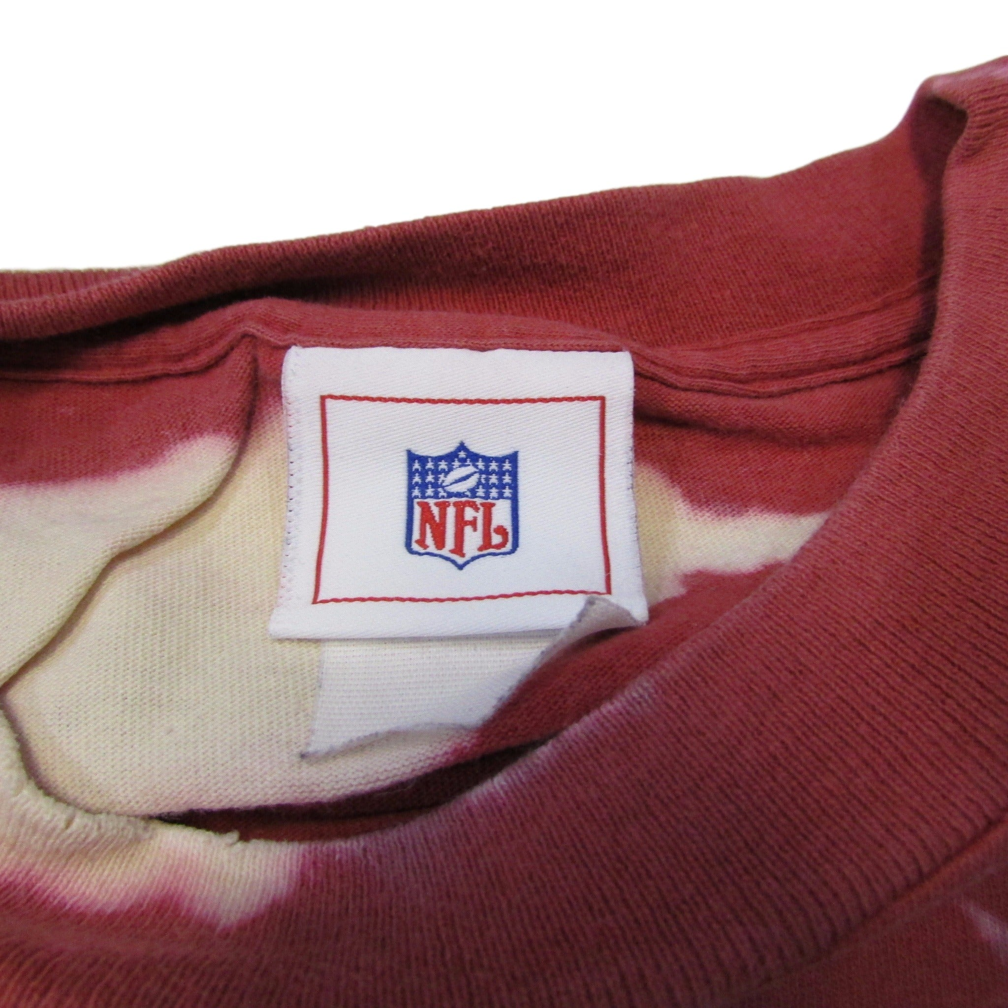 San Francisco 49ers Vintage Football T-Shirt Tie Dye Bleach Sz XL