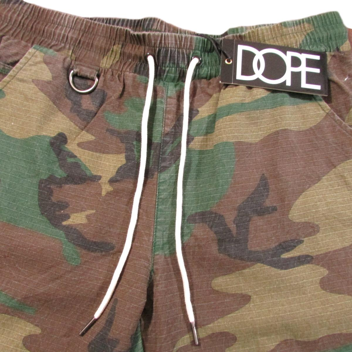 DOPE Clothing Army Camouflage Shorts