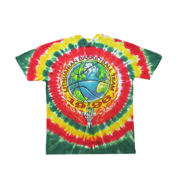 Grateful Dead 1996 Lithuania Olympics Basketball Tie Dye T-Shirt