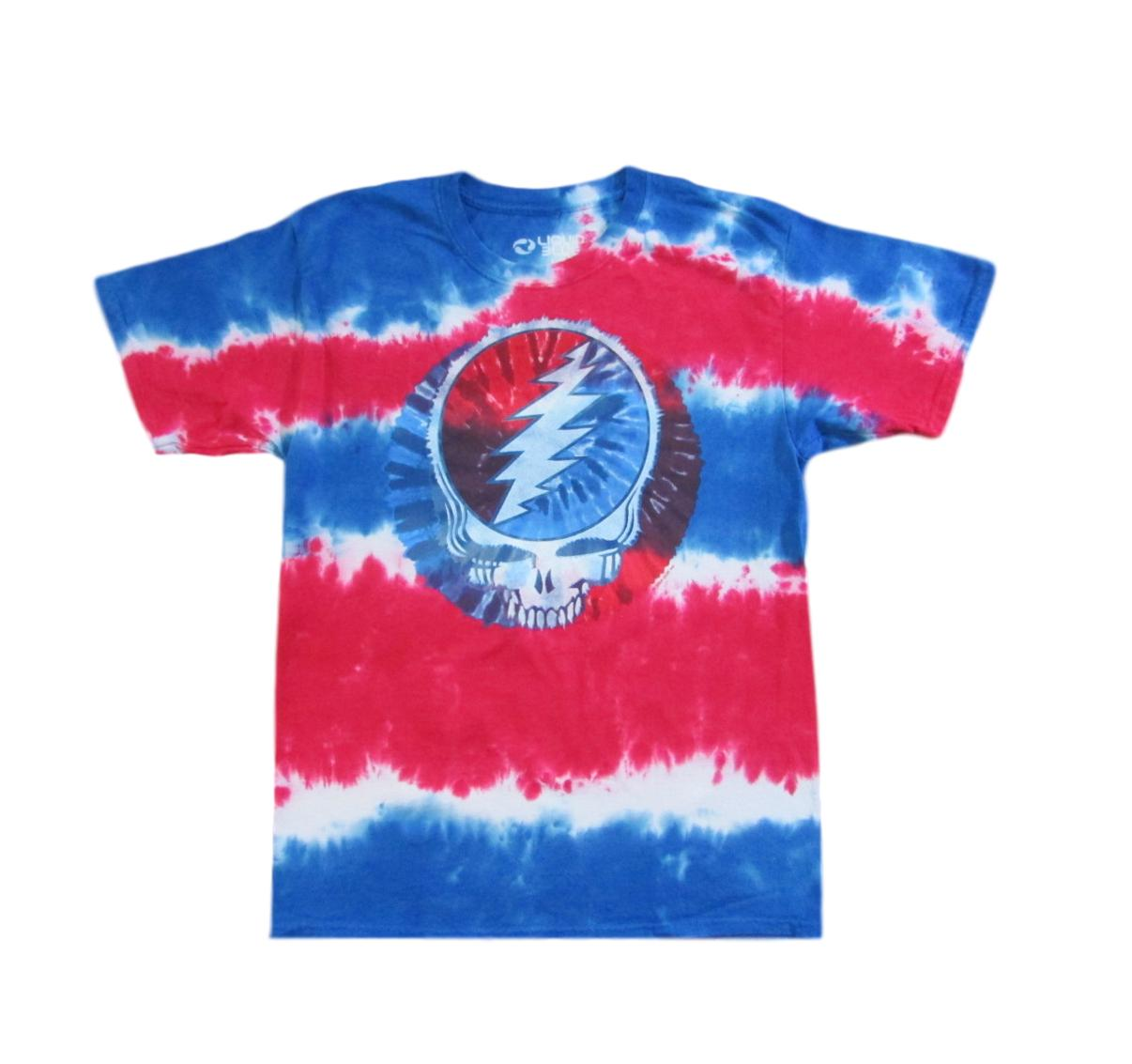 Grateful Dead American Skull Space Your Face Tie Dye T-Shirt