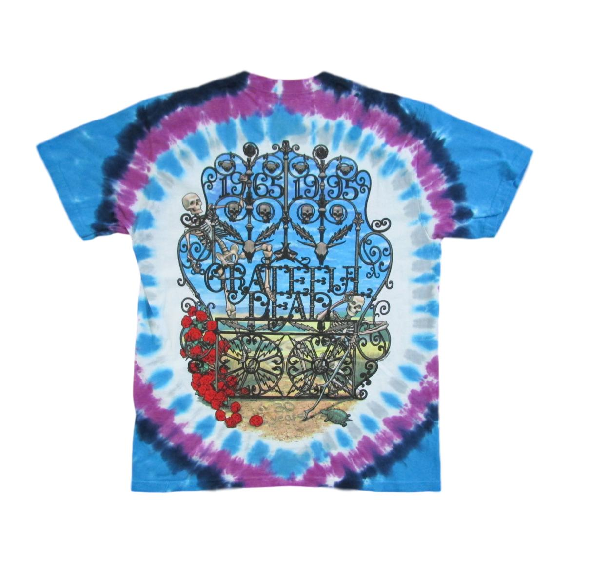 Grateful Dead 30th Anniversary Tie Dye T-Shirt - Cotton