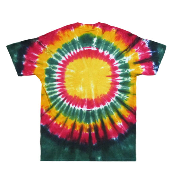 Grateful Dead Rasta Space Your Face Tie Dye T-Shirt - Cotton
