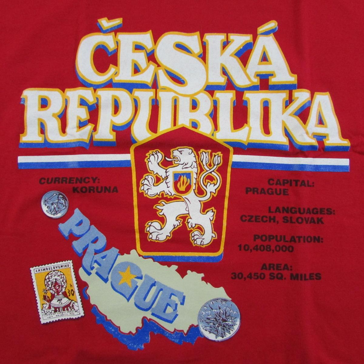 Ceska Republika Prague Euro T-Shirt Lee Sports Sz L