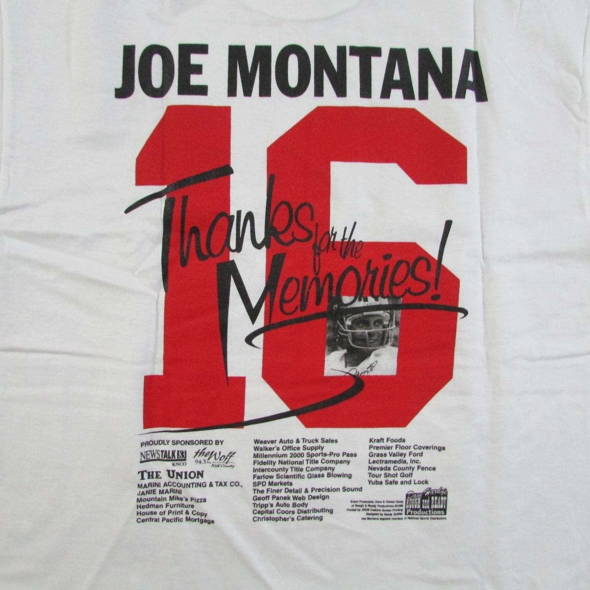 1998 San Francisco 49ers Joe Montana Football T-Shirt Sz M