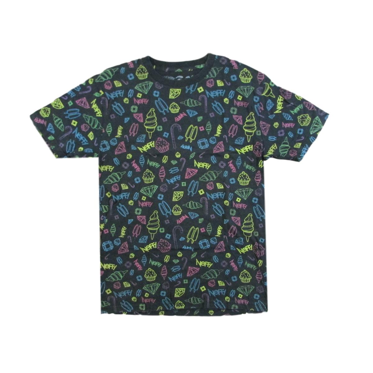 Neff - All Over Ice Cream & Candy T-Shirt Sz L