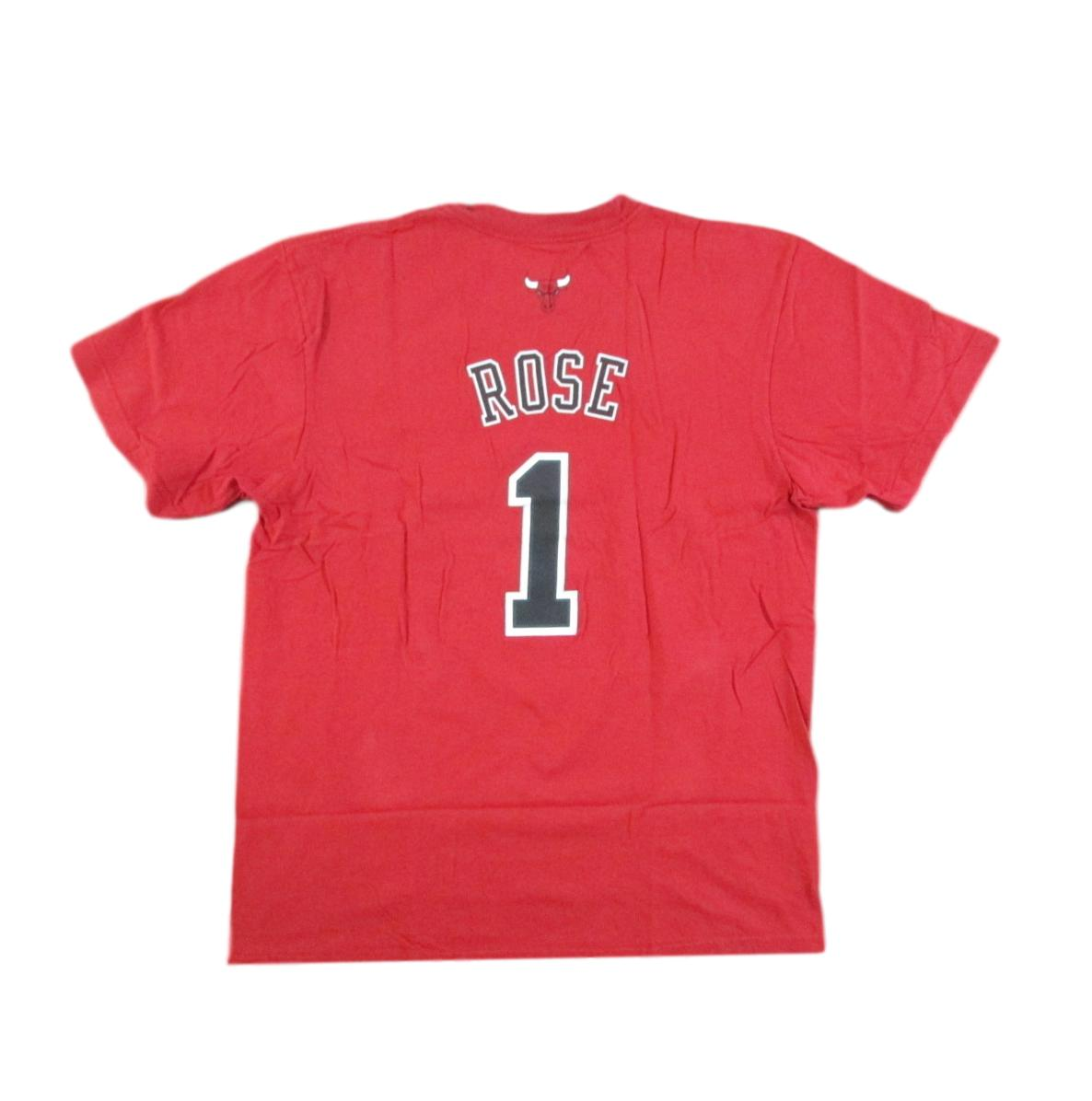 Derrick Rose Chicago Bulls Players T-Shirt Adidas Sz XL