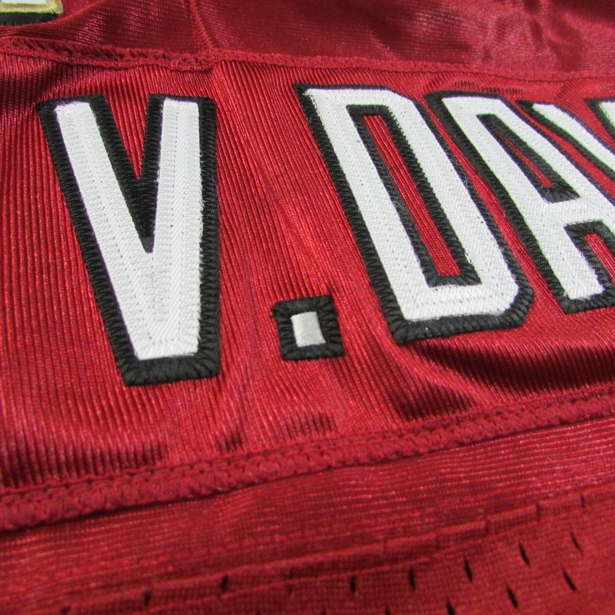 San Francisco 49ers 60th Anniversary Vernon Davis Stitched Jersey Rebook - Red