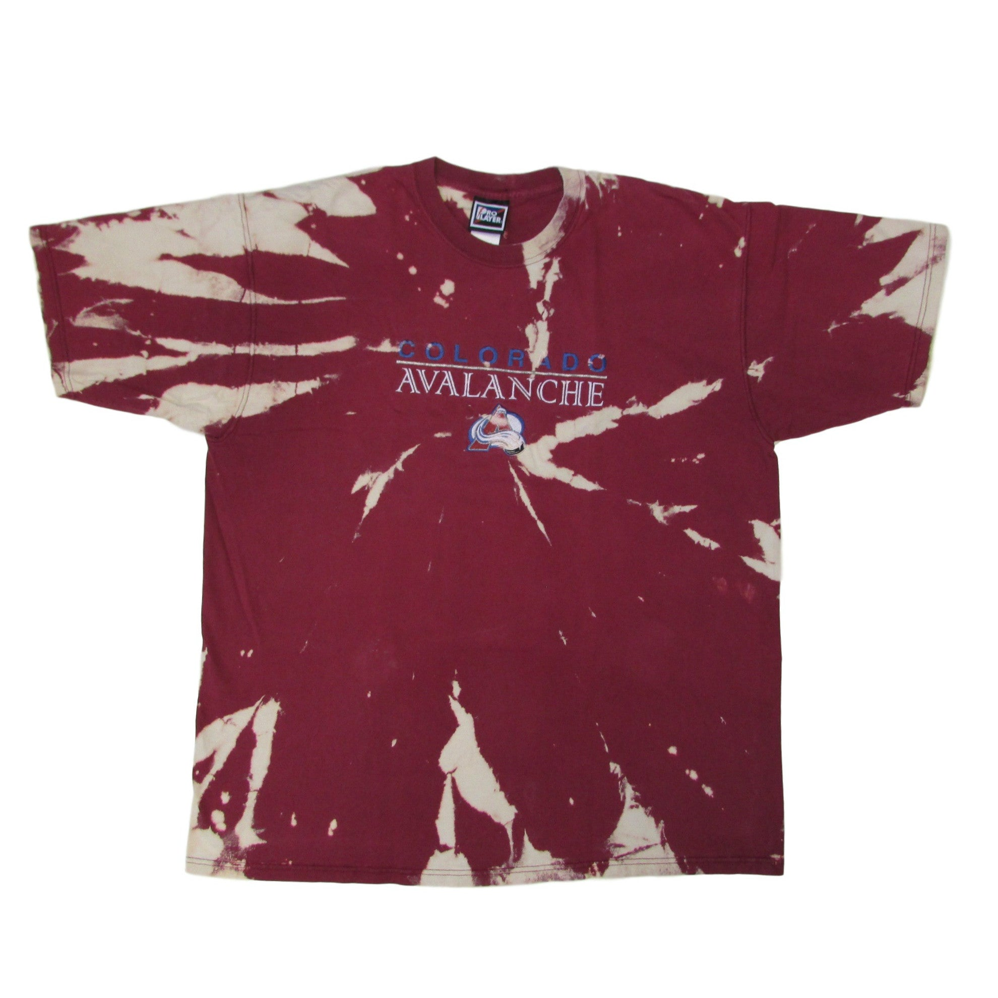 Colorado Avalanche NHL Tie Dye T-Shirt Pro Player Sz XXL