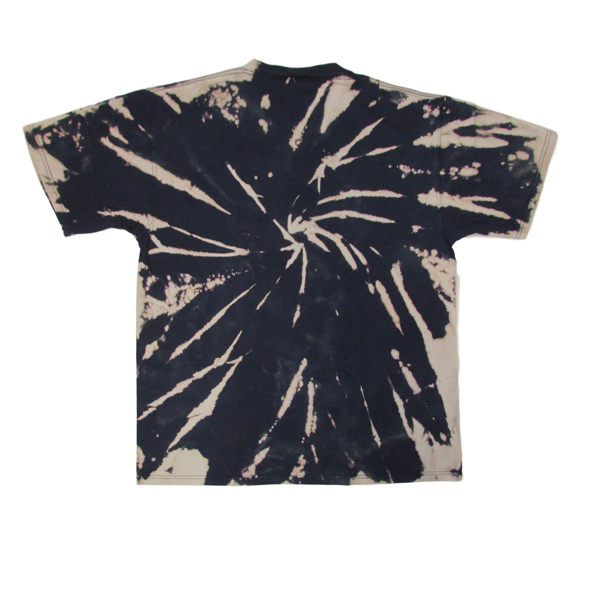 Chicago Bears Tie Dye Bleach Pattern Swirl T-Shirt Sz XL