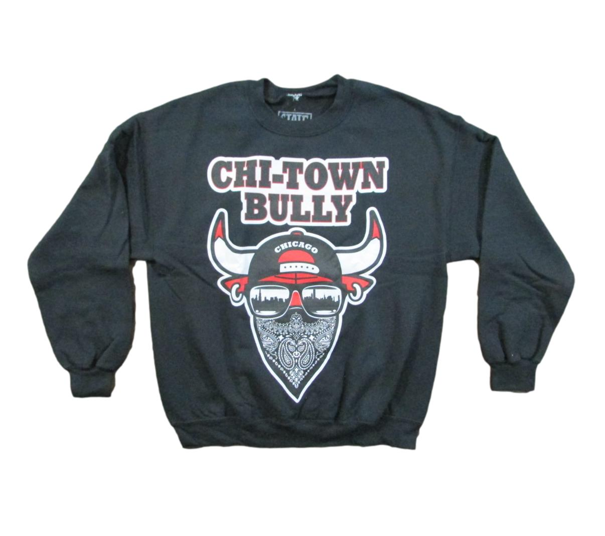 Chi-Town Bully Chicago Basketball Sweater Sz L