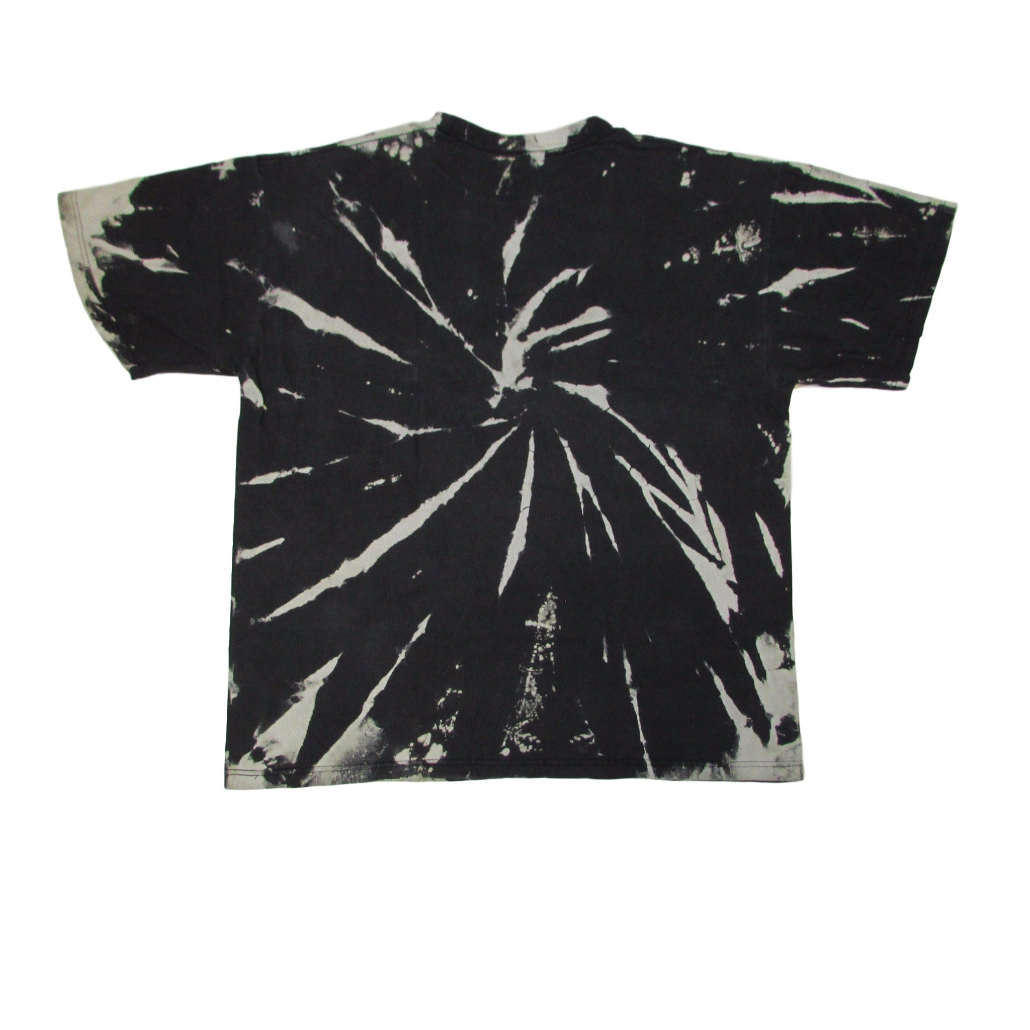 Oakland Raiders Taz Cartoon Bleached Tie Dye T-Shirt