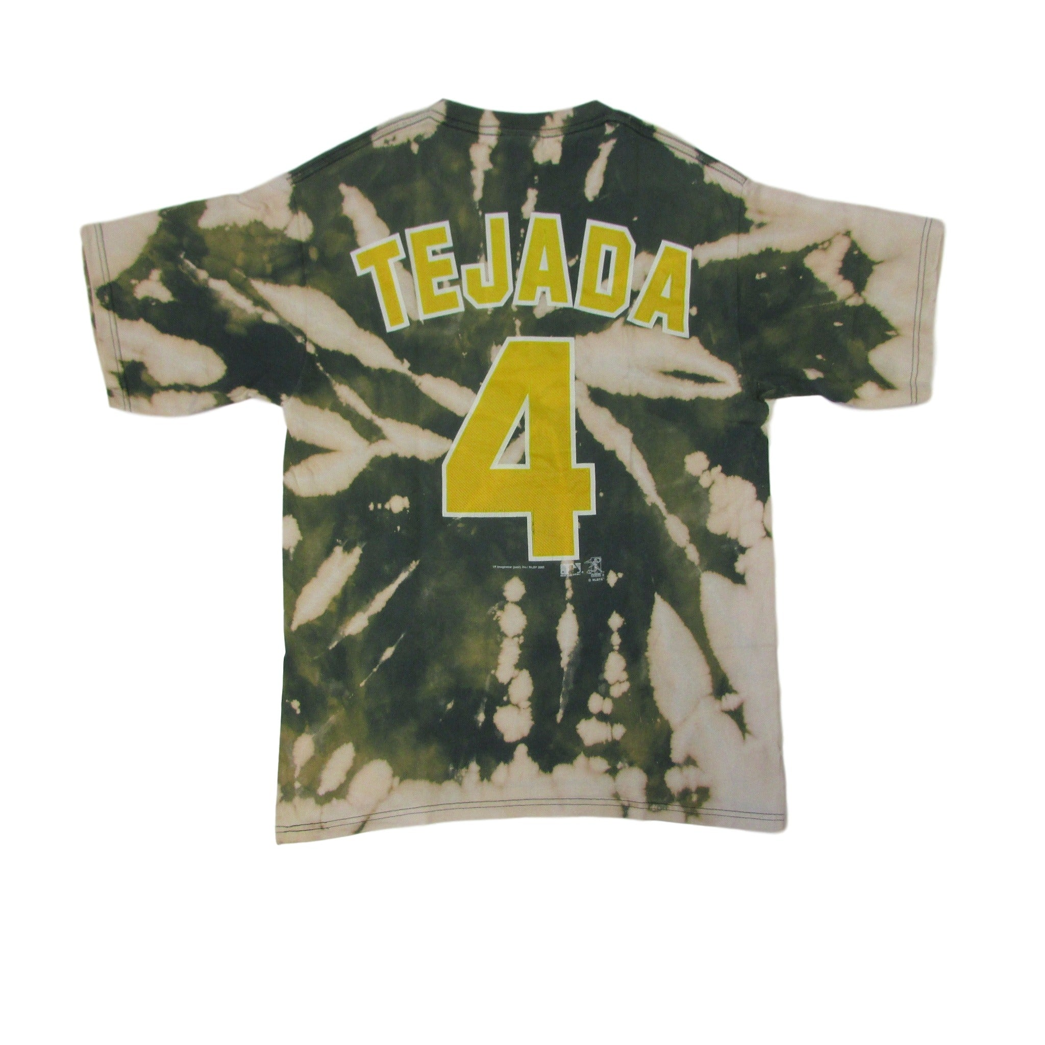 Oakland Athletics Miguel Tejada Bleach Tie Dye T-Shirt Sz M