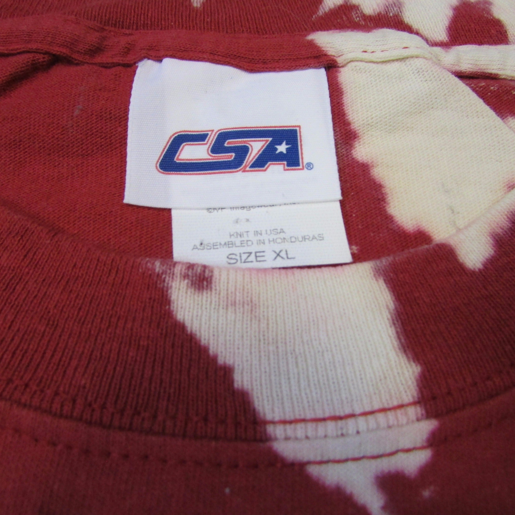 USC Rose Bowl Football Game 2008 Tie Dye Bleach T-Shirt CSA Sz XL