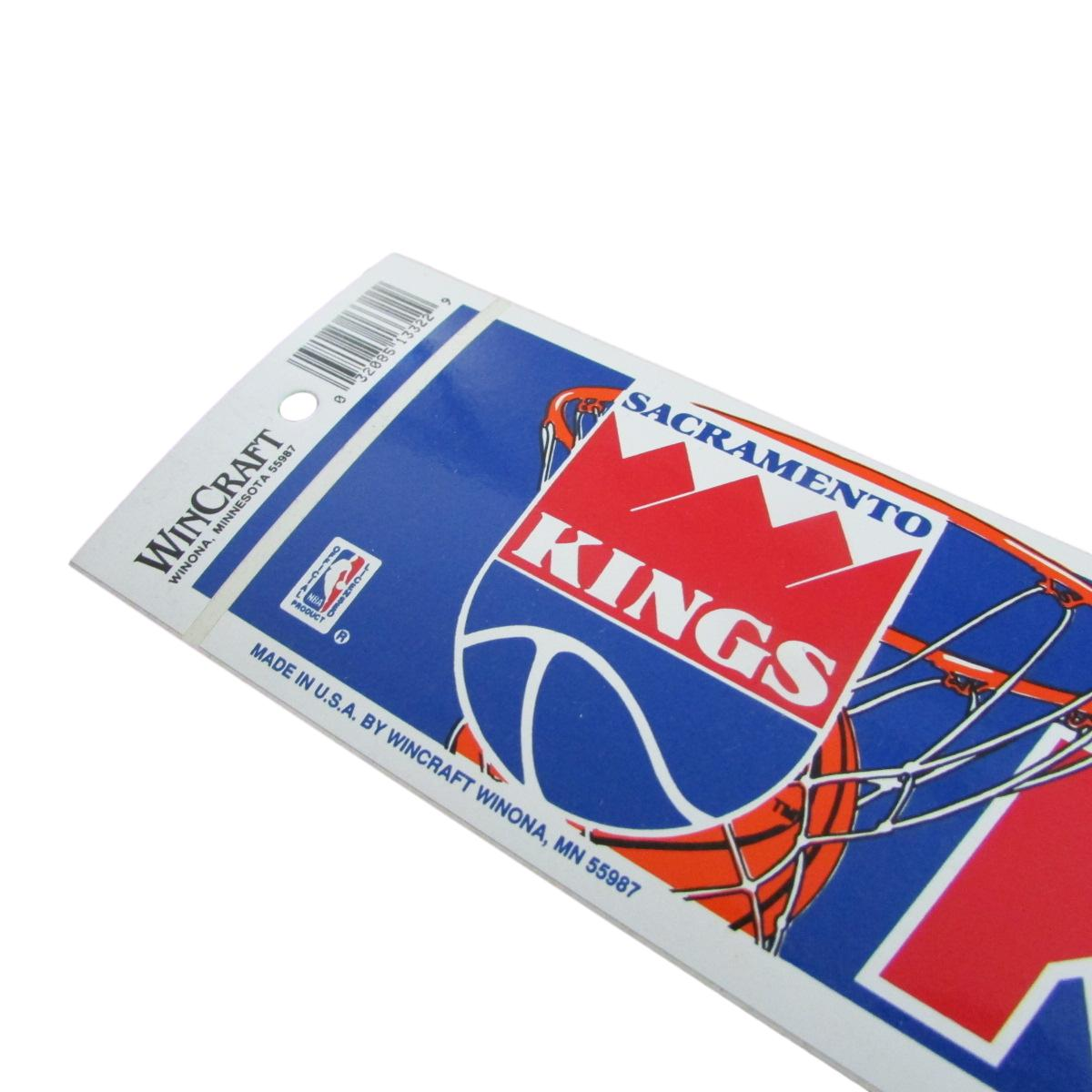 Vintage Sacramento Kings Bumper Sticker Decal