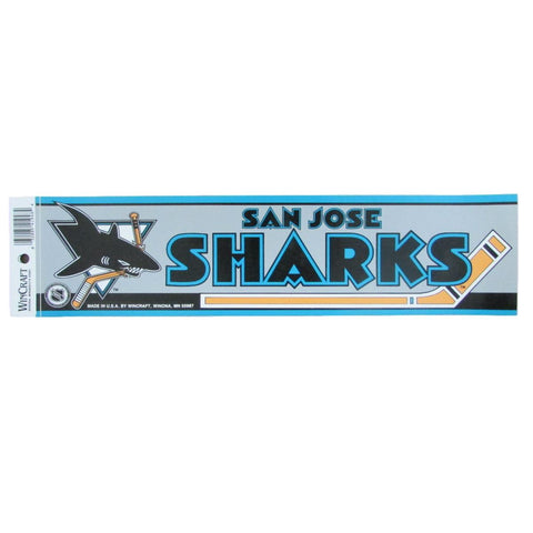 Vintage San Jose Sharks Bumper Sticker Decal