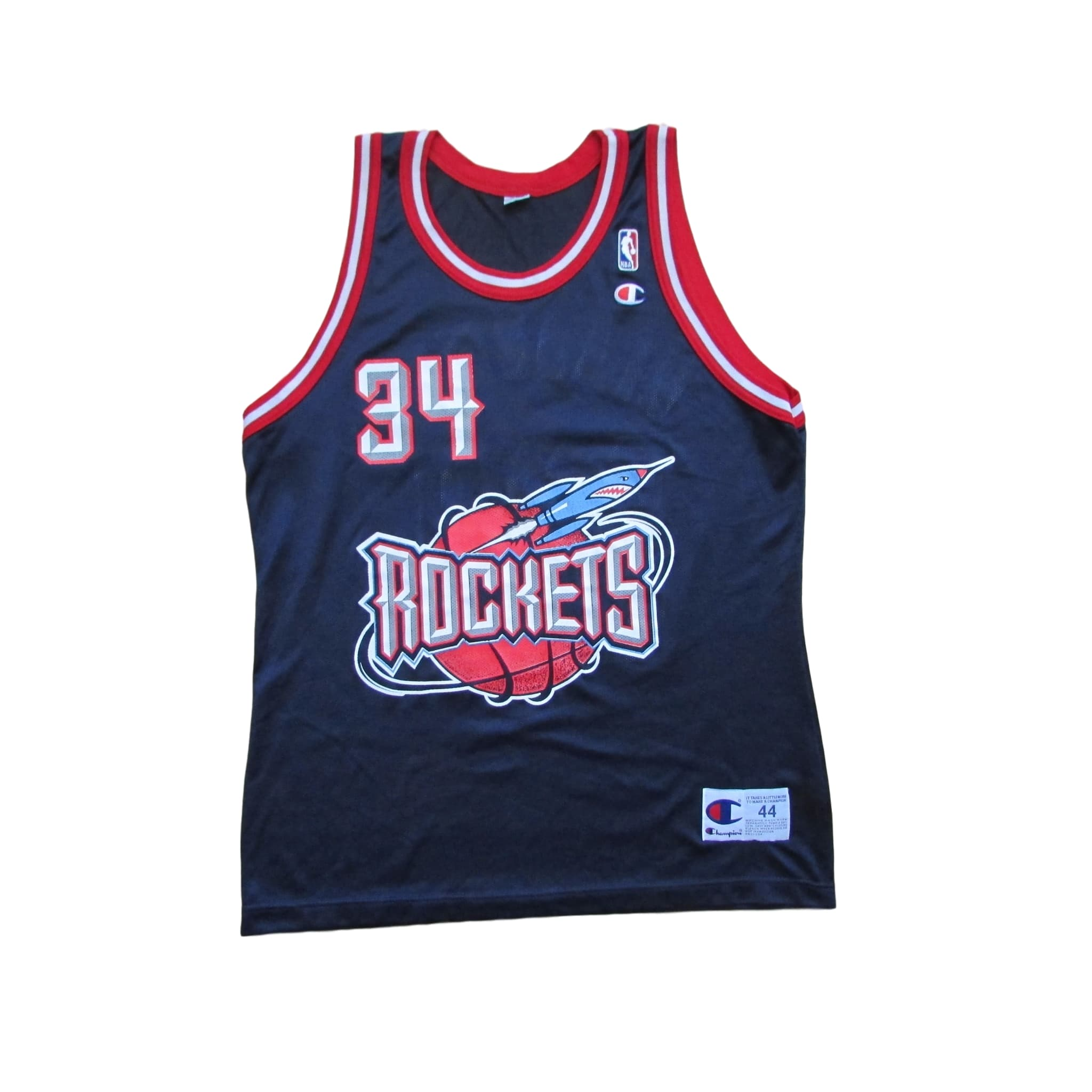 new arrival c479b 35399 Houston Rockets Hakeem Olajuwon Basketball Jersey 1994 Champion Sz 44