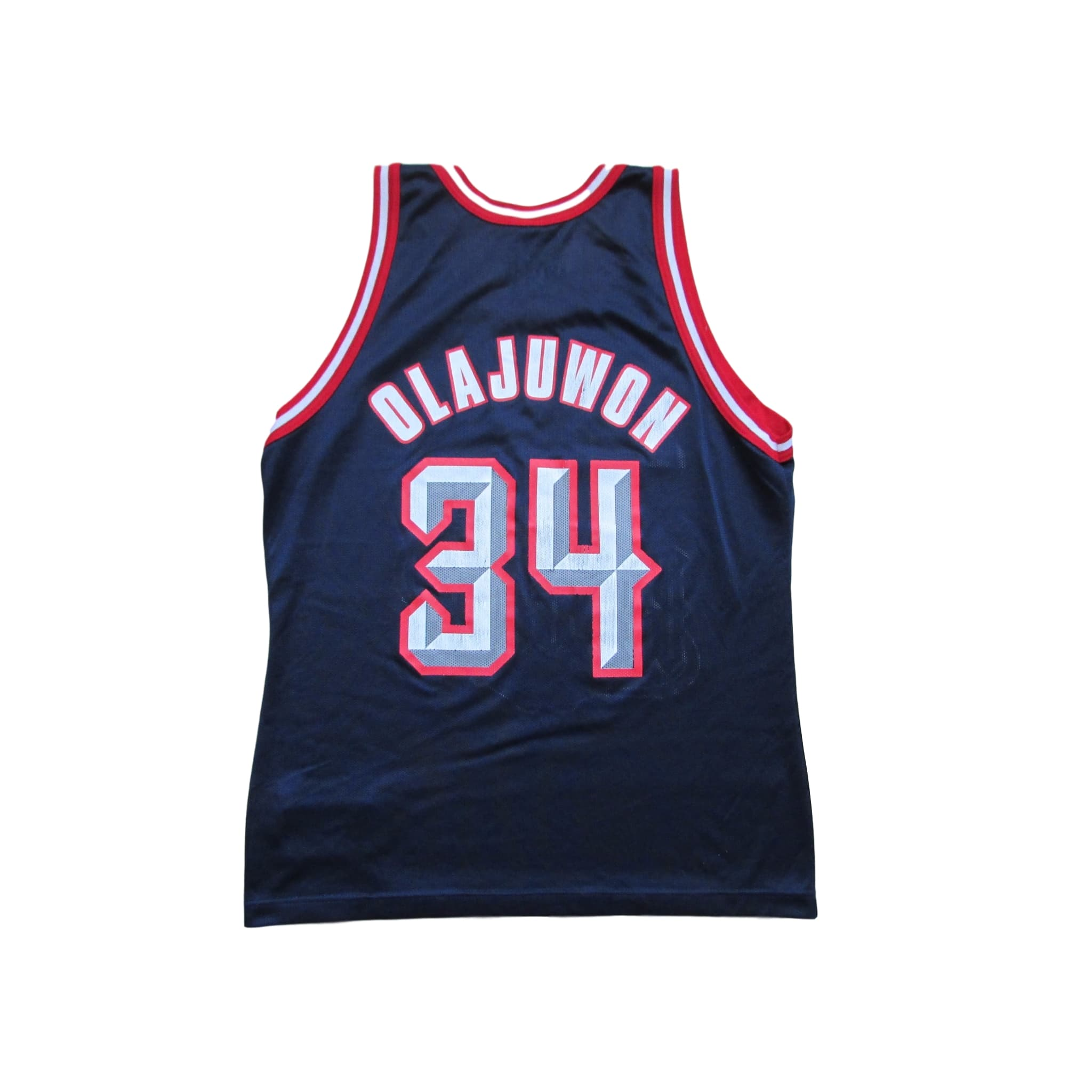 Houston Rockets Hakeem Olajuwon Basketball Jersey 1994 Champion Sz 44