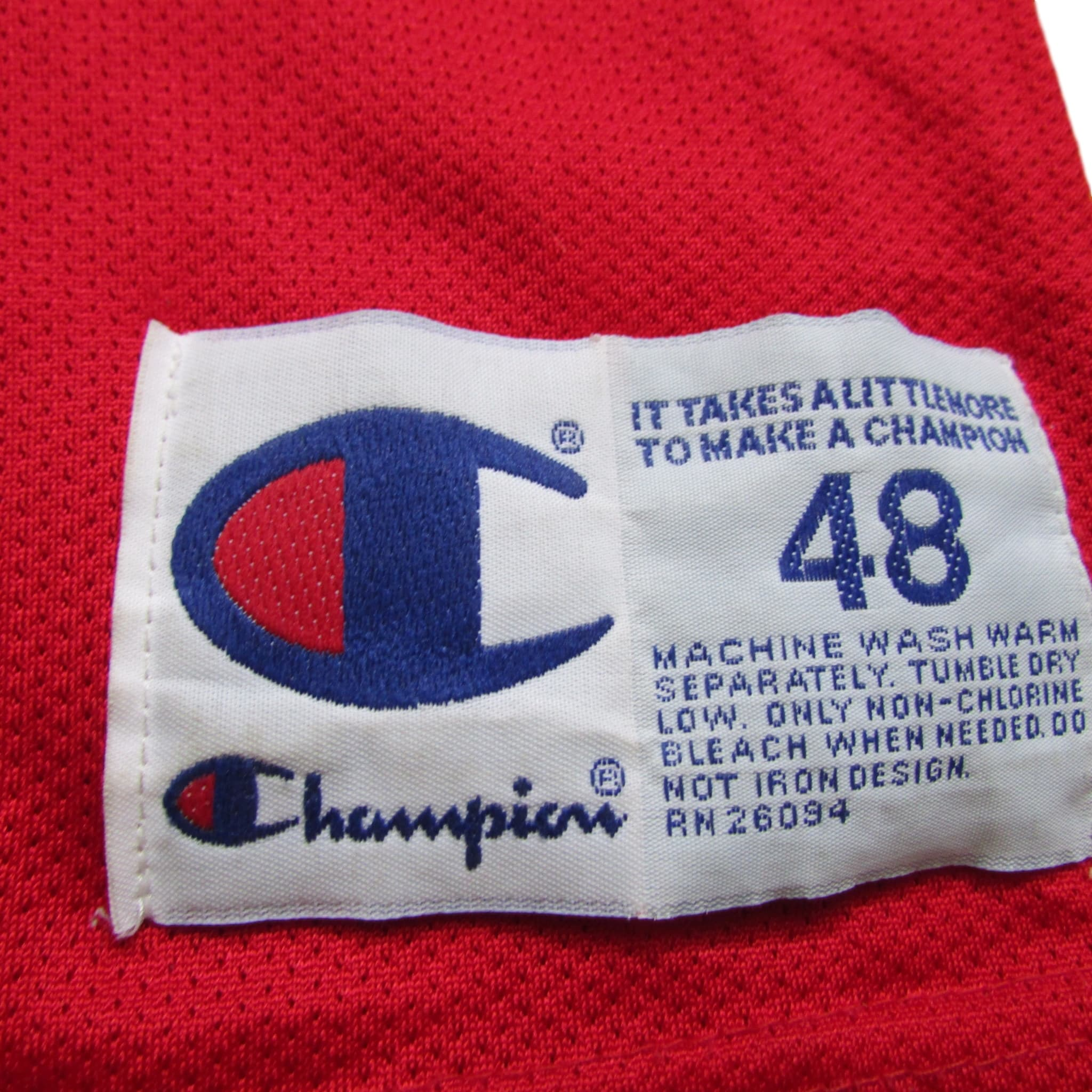 Philadelphia 76ers Jerry Stackhouse Basketball Jersey 1996 Champion Sz 48