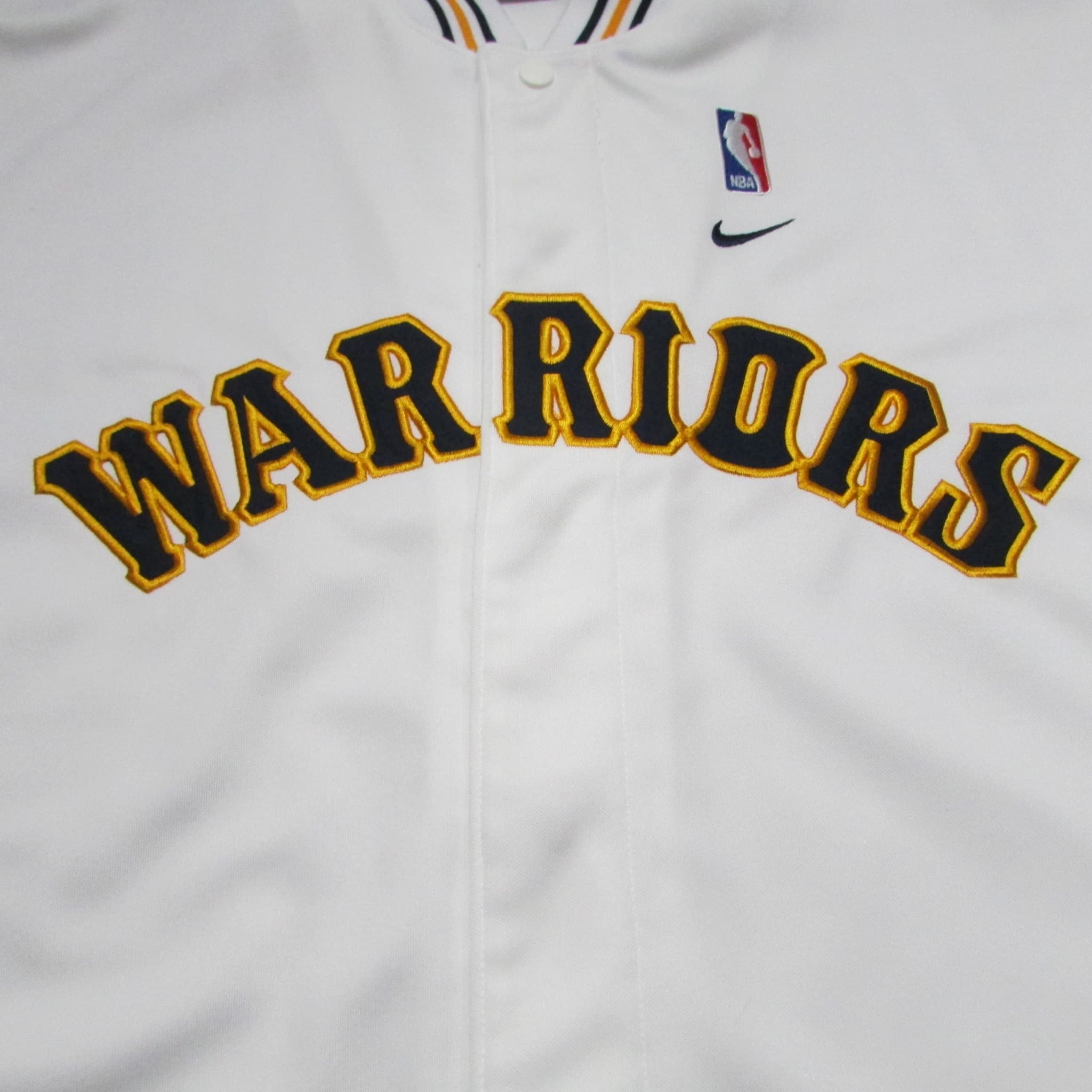 Golden State Warriors Vintage Warm-up Jersey Shirt NIKE Sz M