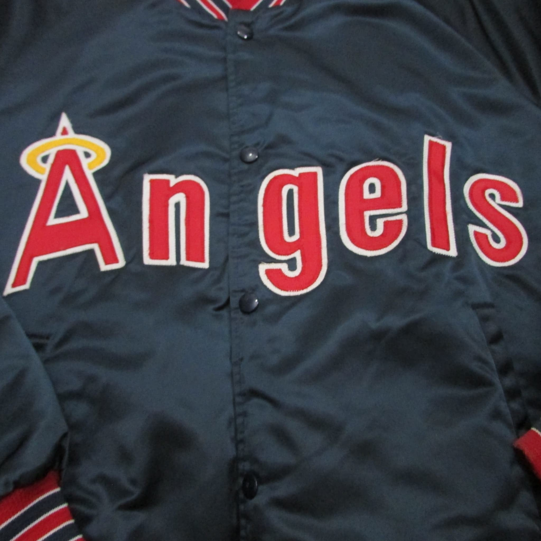 California Angels Vintage MLB Chalk Line Jacket Sz XL