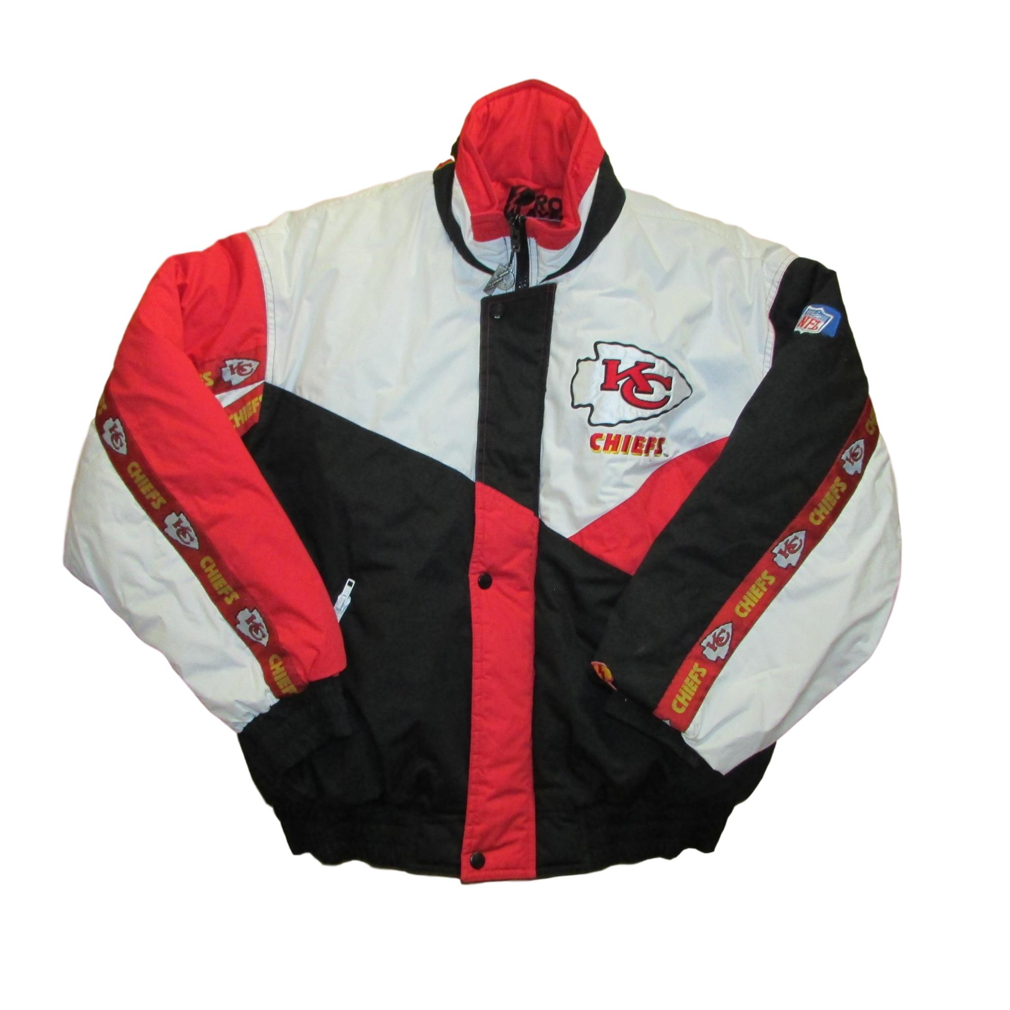 Kansas City Chiefs Heavy Duty Winter Jacket Pro Player Football Sz M