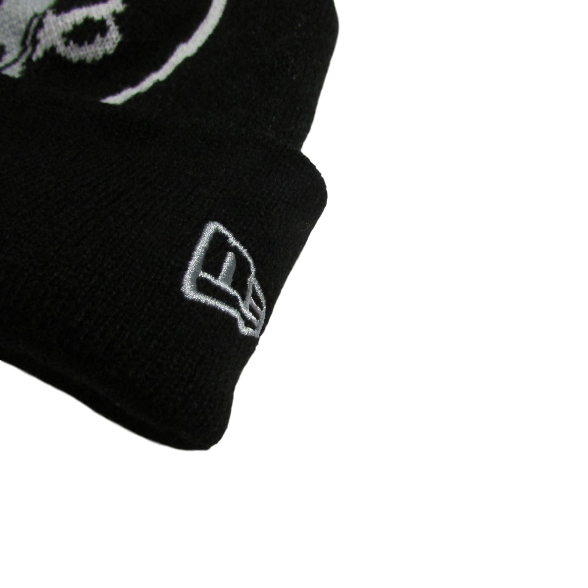 Oakland Raiders Large Emblem Pom Beanie New Era