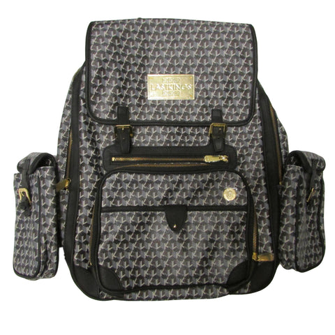 Last Kings Genuine Leather Monogram Backpack LK