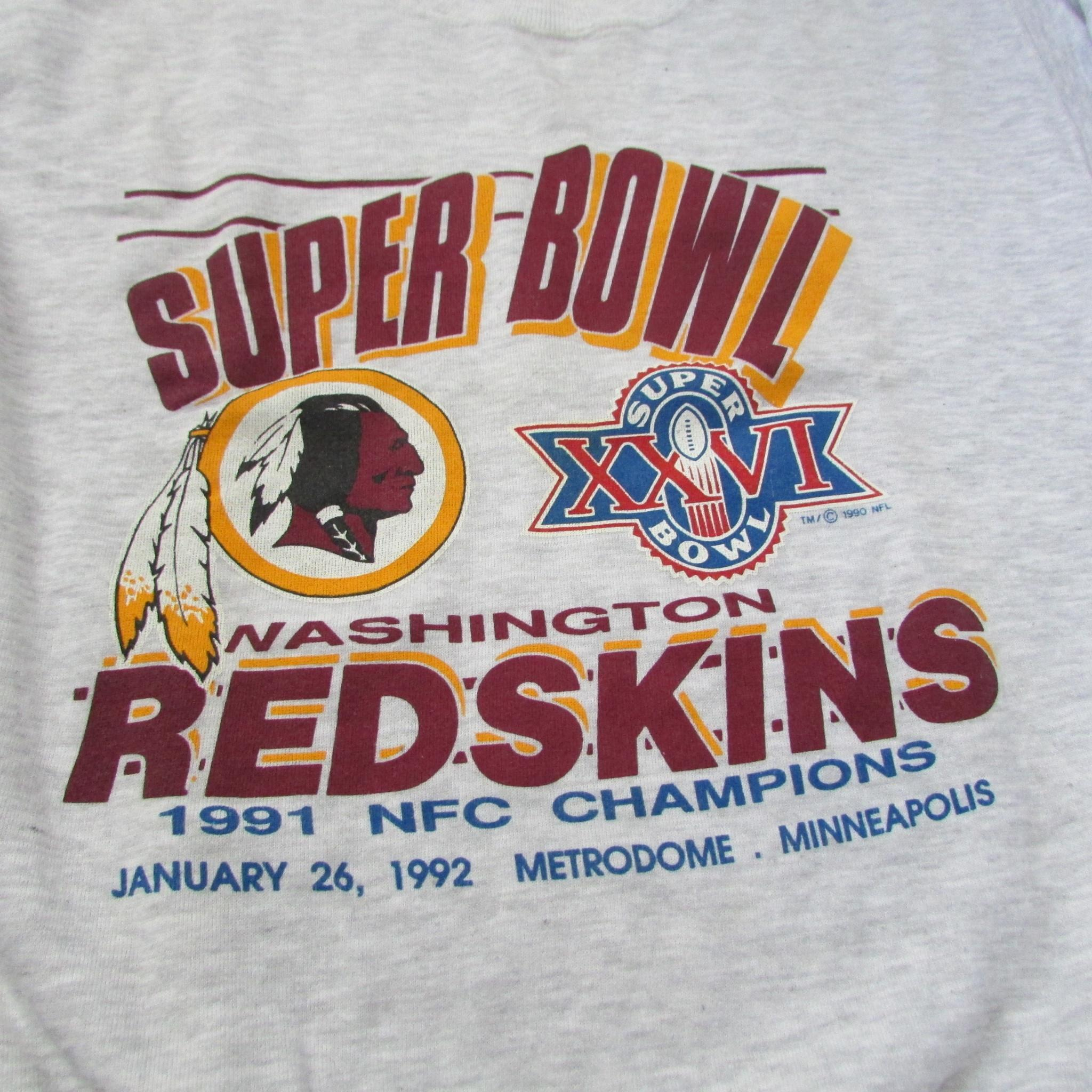 Washington Redskins 1992 Super Bowl Sweater by LEE SPORTS Sz L