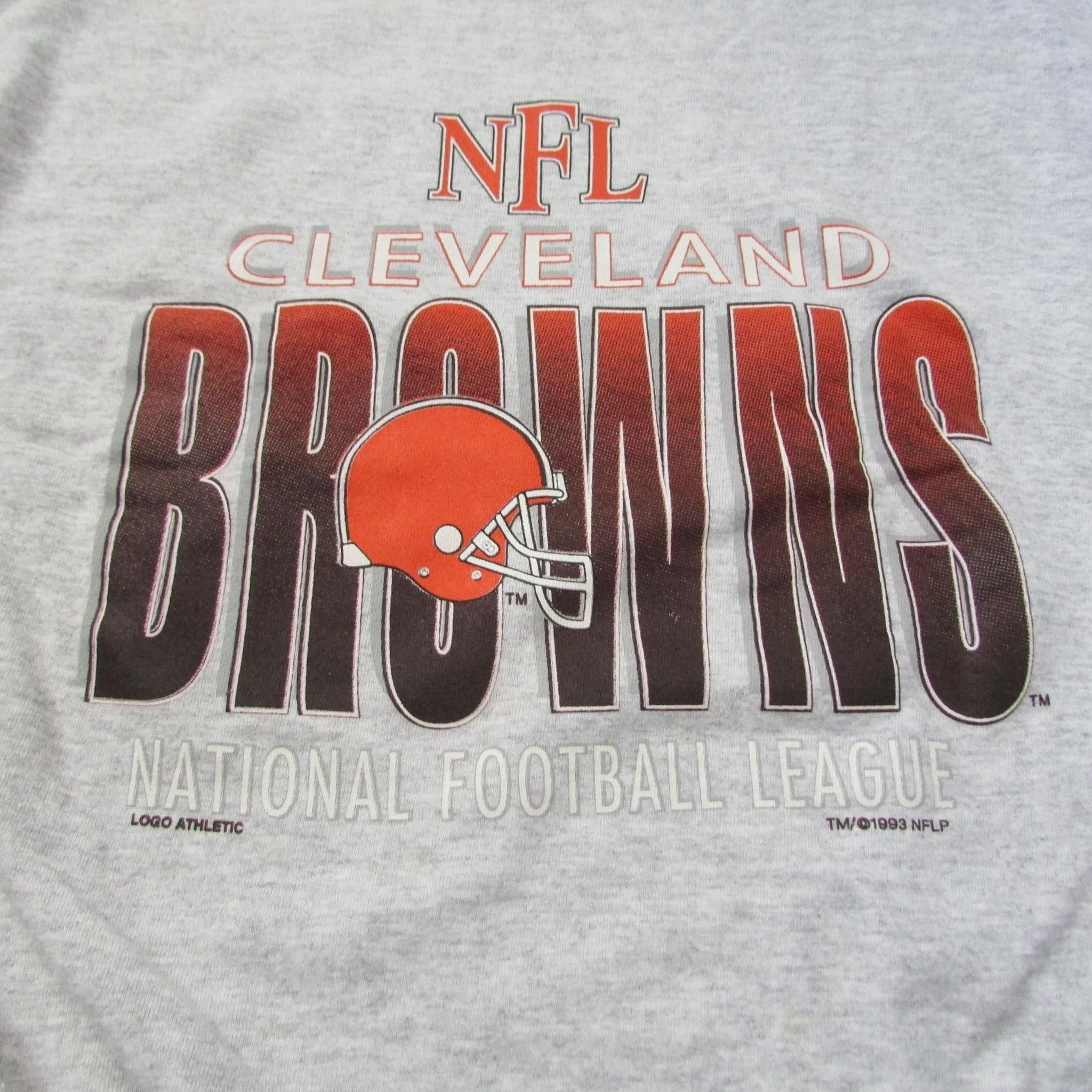 Cleveland Browns Vintage NFL Sweater LOGO ATHLETIC Sz L