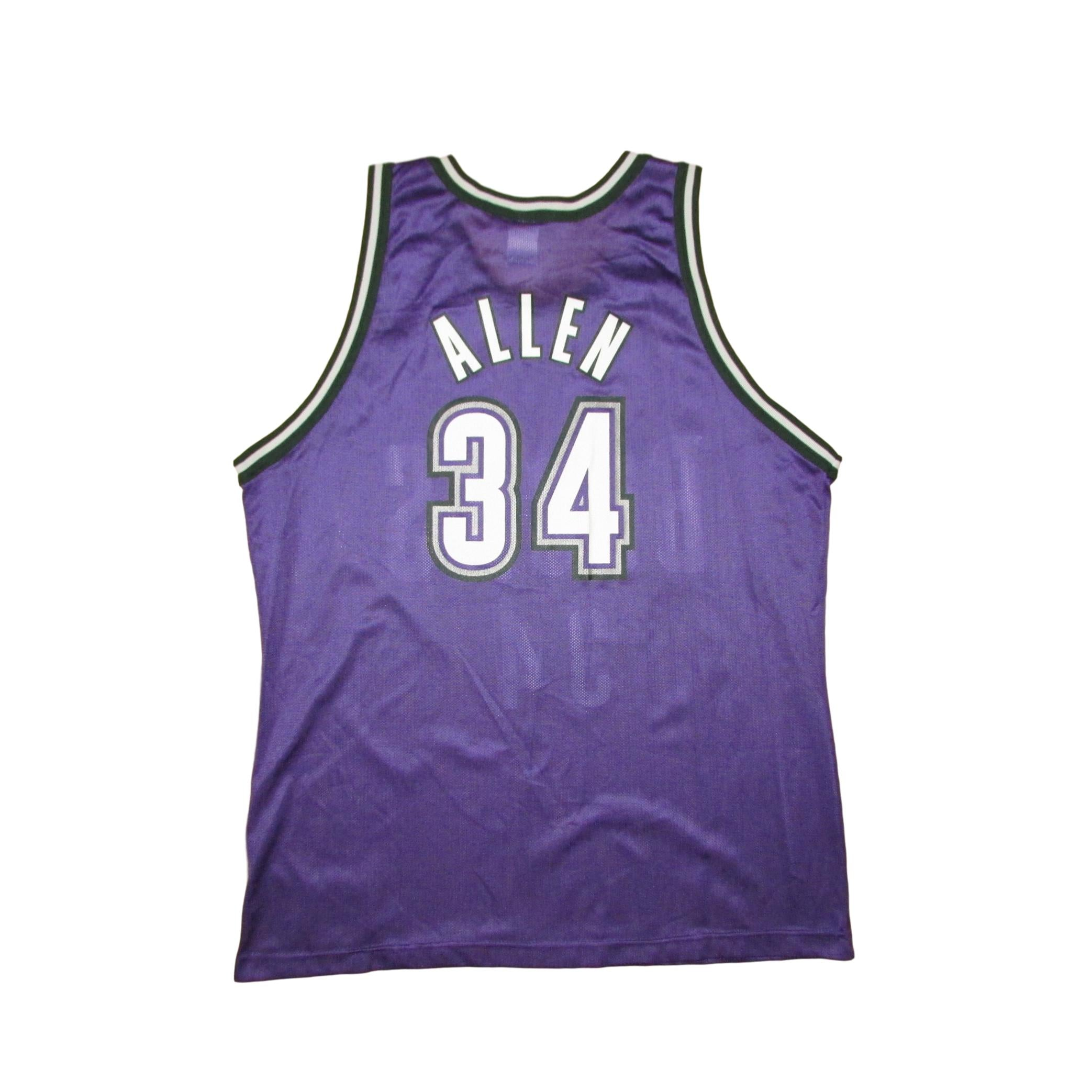 Milwaukee Bucks Vintage Ray Allen Champion Jersey Sz 48