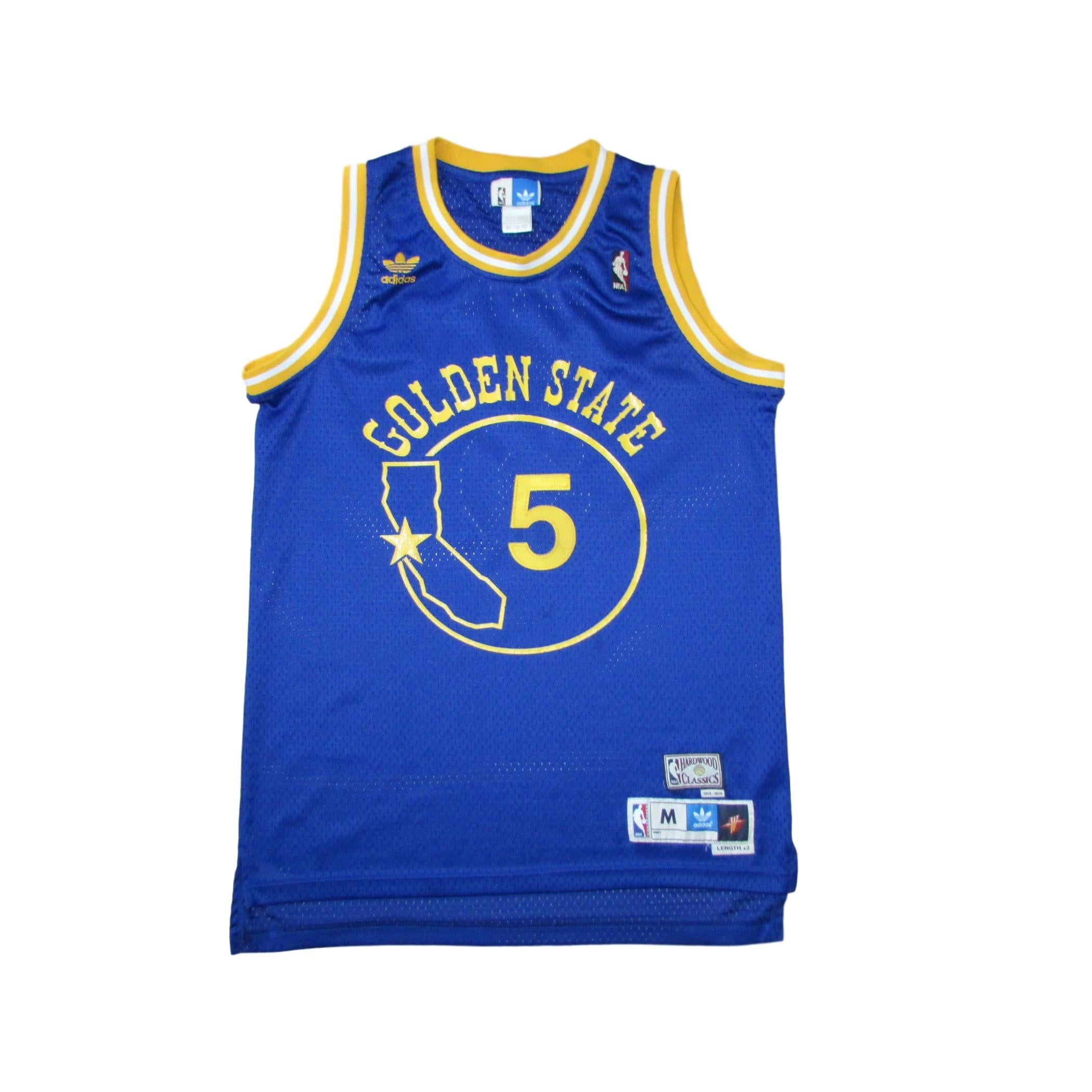 newest 61b5f 8add1 Golden State Warriors Baron Davis Hardwood Classics Basketball Jersey Sz M