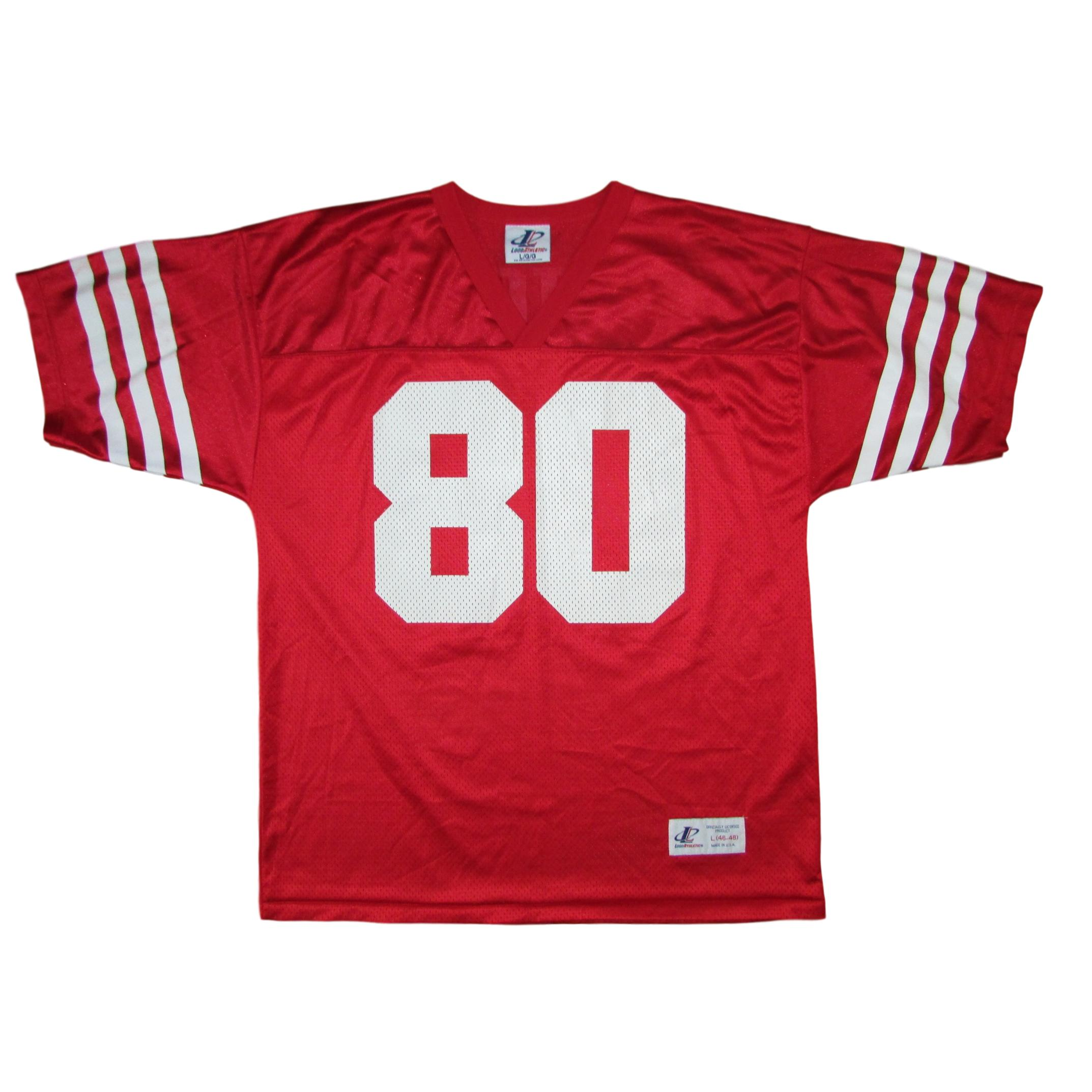 lowest price cdf71 79c15 San Francisco 49ers Jerry Rice Logo Athletic Football Jersey Sz L