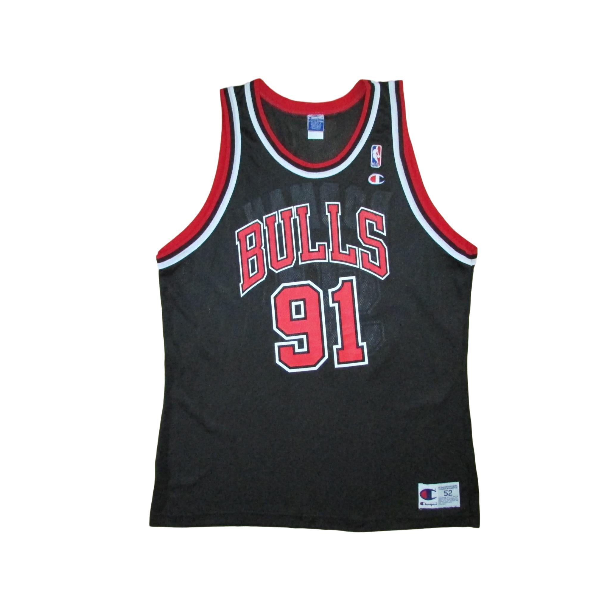 Chicago Bulls Dennis Rodman Basketball Champion Jersey Sz 52