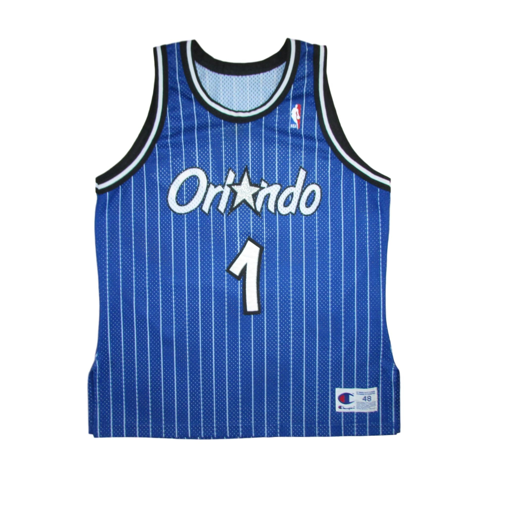 Orlando Magic Anfernee Hardaway Authentic Pinstripes Basketball Jersey Sz 48