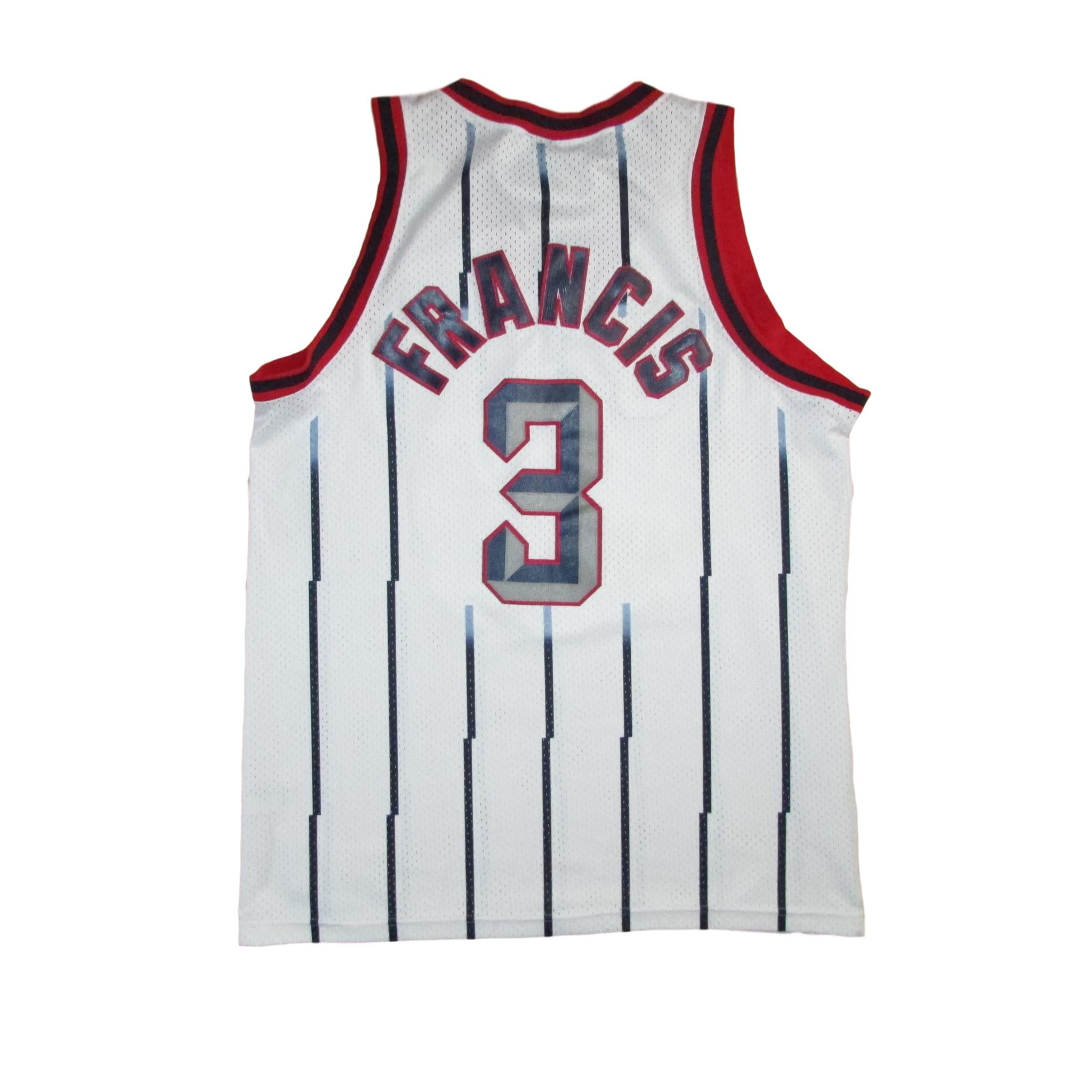 Houston Rockets Steve Francis White Nike Basketball Jersey Pinstripes Sz L