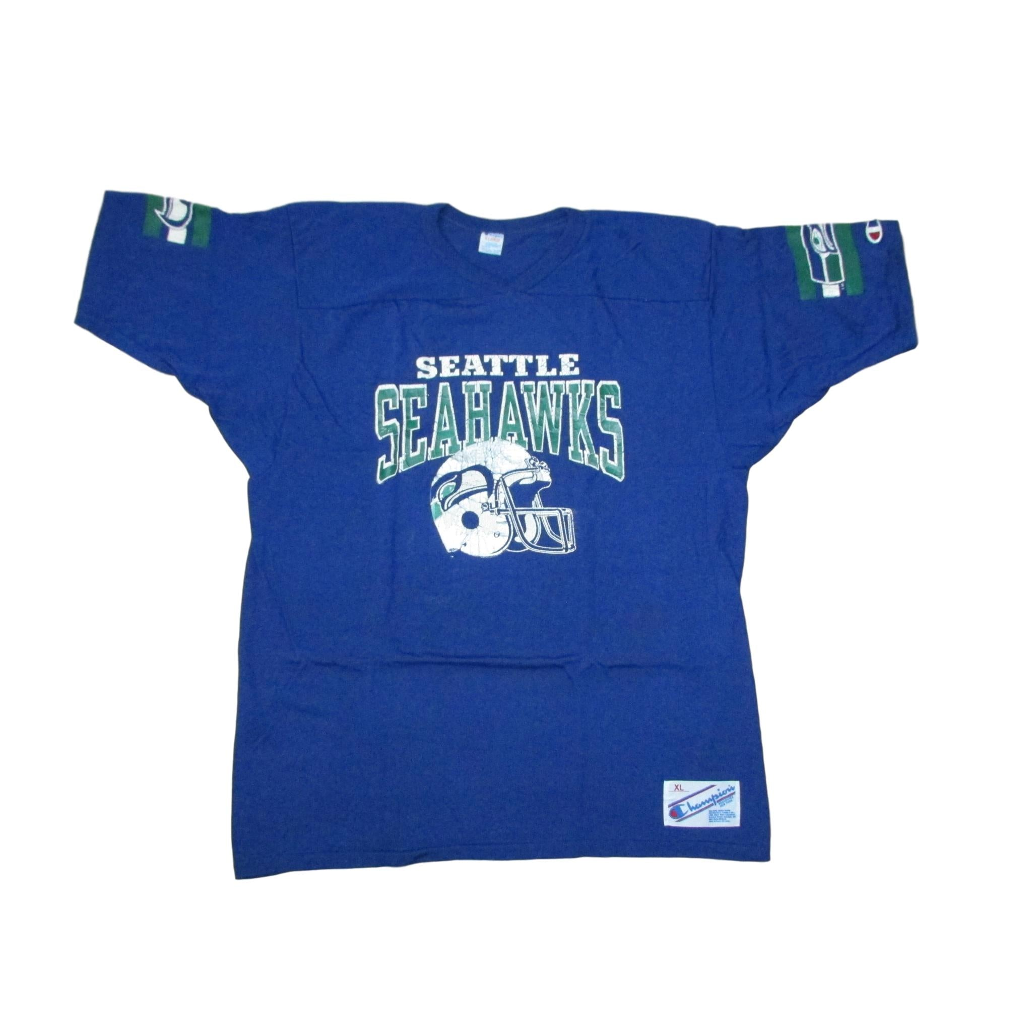 Seattle Seahawks Vintage Football T-Shirt Jersey Champion Sz XL