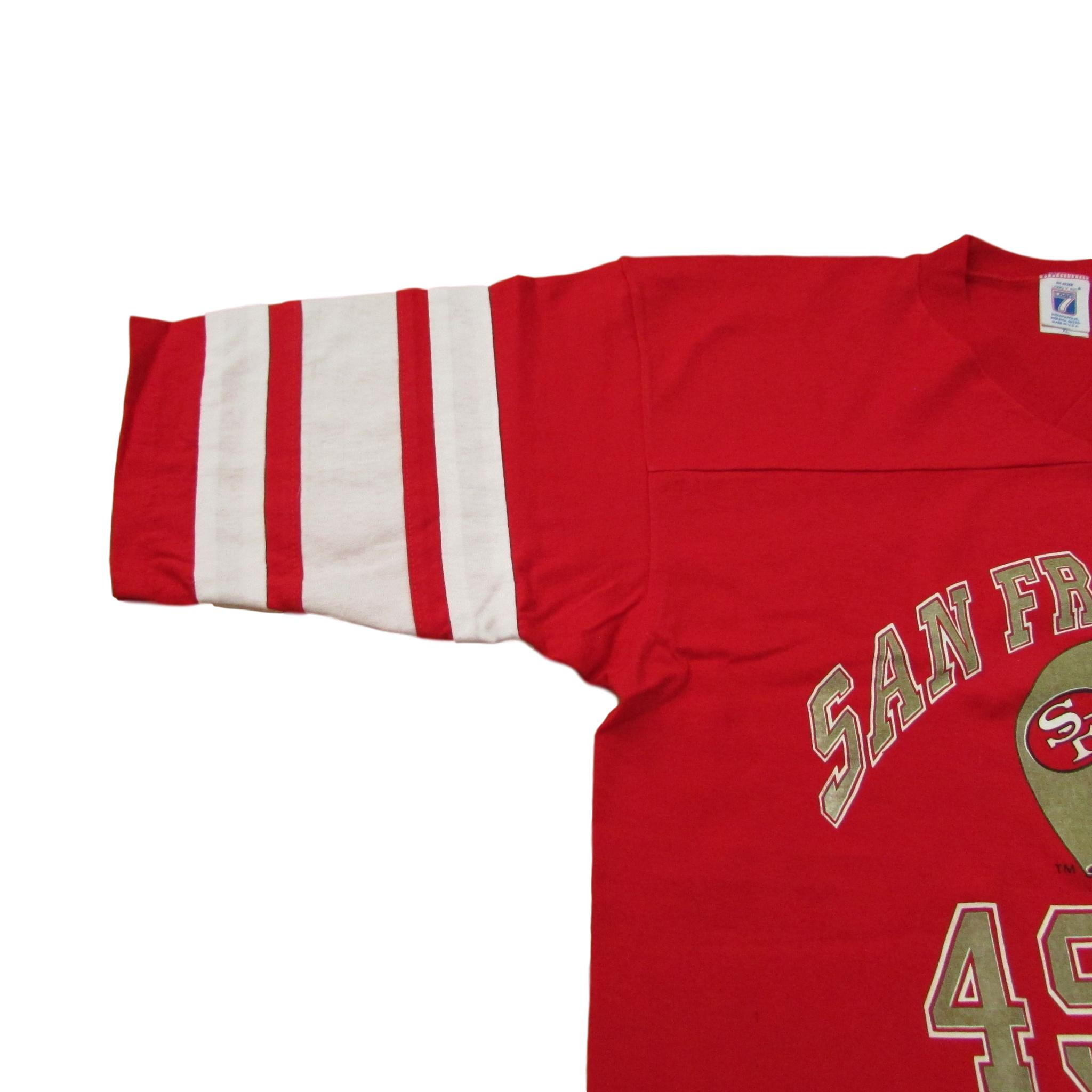 San Francisco 49ers V-Neck Triple Print T-Shirt Logo 7 Sz XL