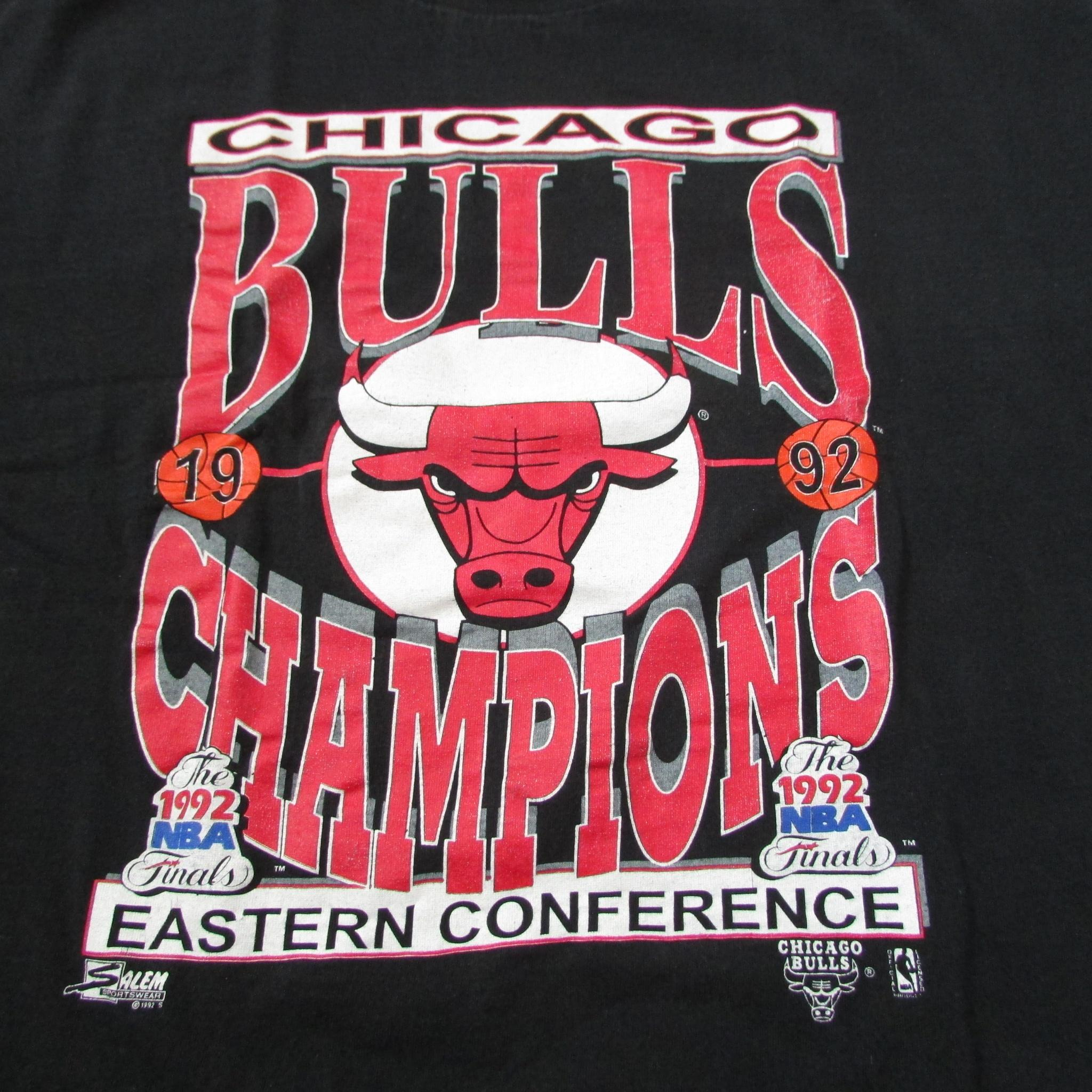 Chicago Bulls 1992 Eastern Conference Champions T-Shirt Salem Sportswear Sz XL