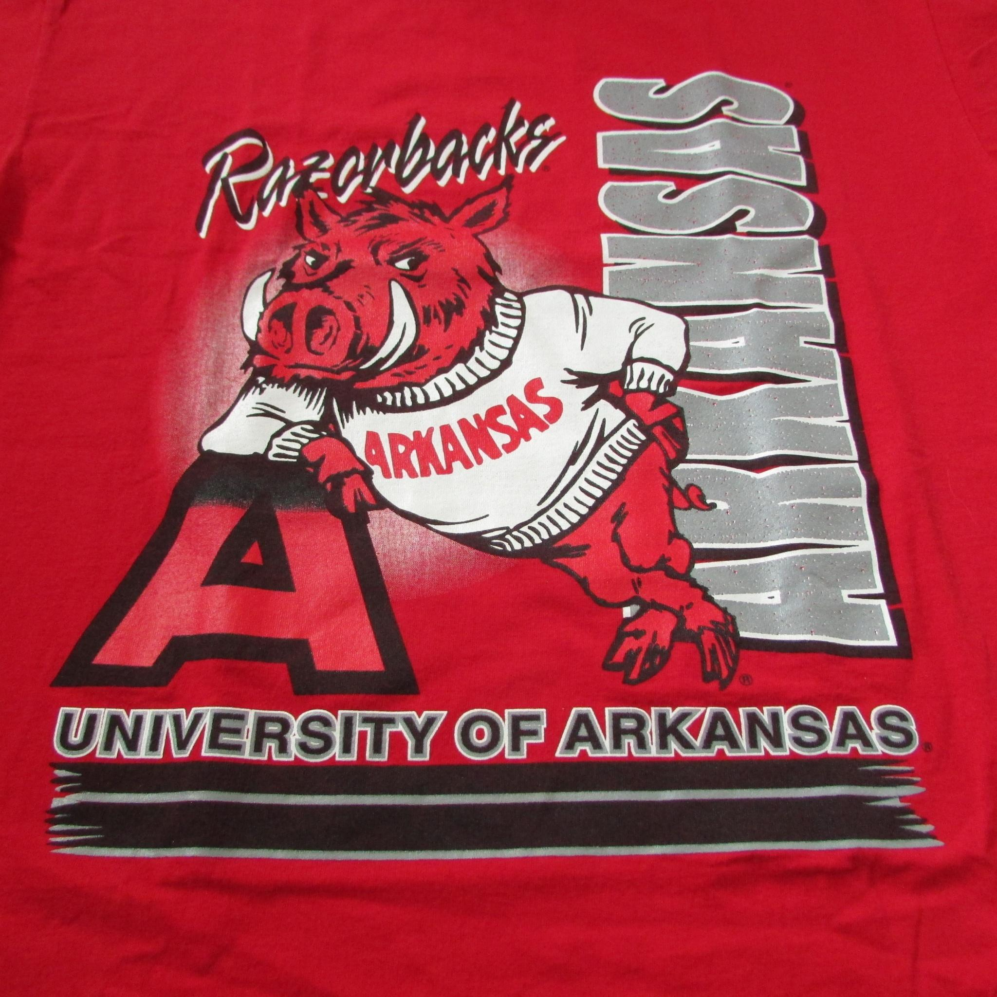 University of Arkansas Razorbacks Vintage College T-Shirt Sz XL