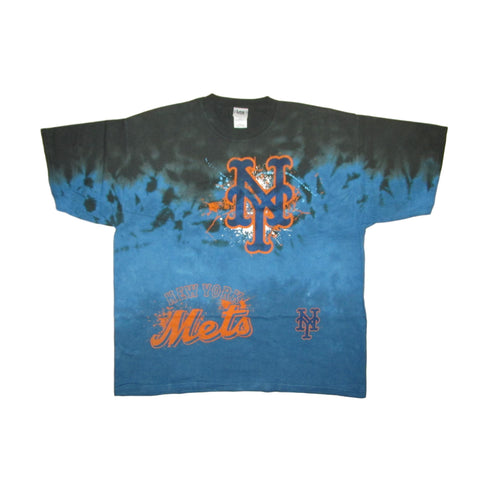 New York Mets Vintage Tie Dye Blue T-Shirt Lee Sports Sz 2XL