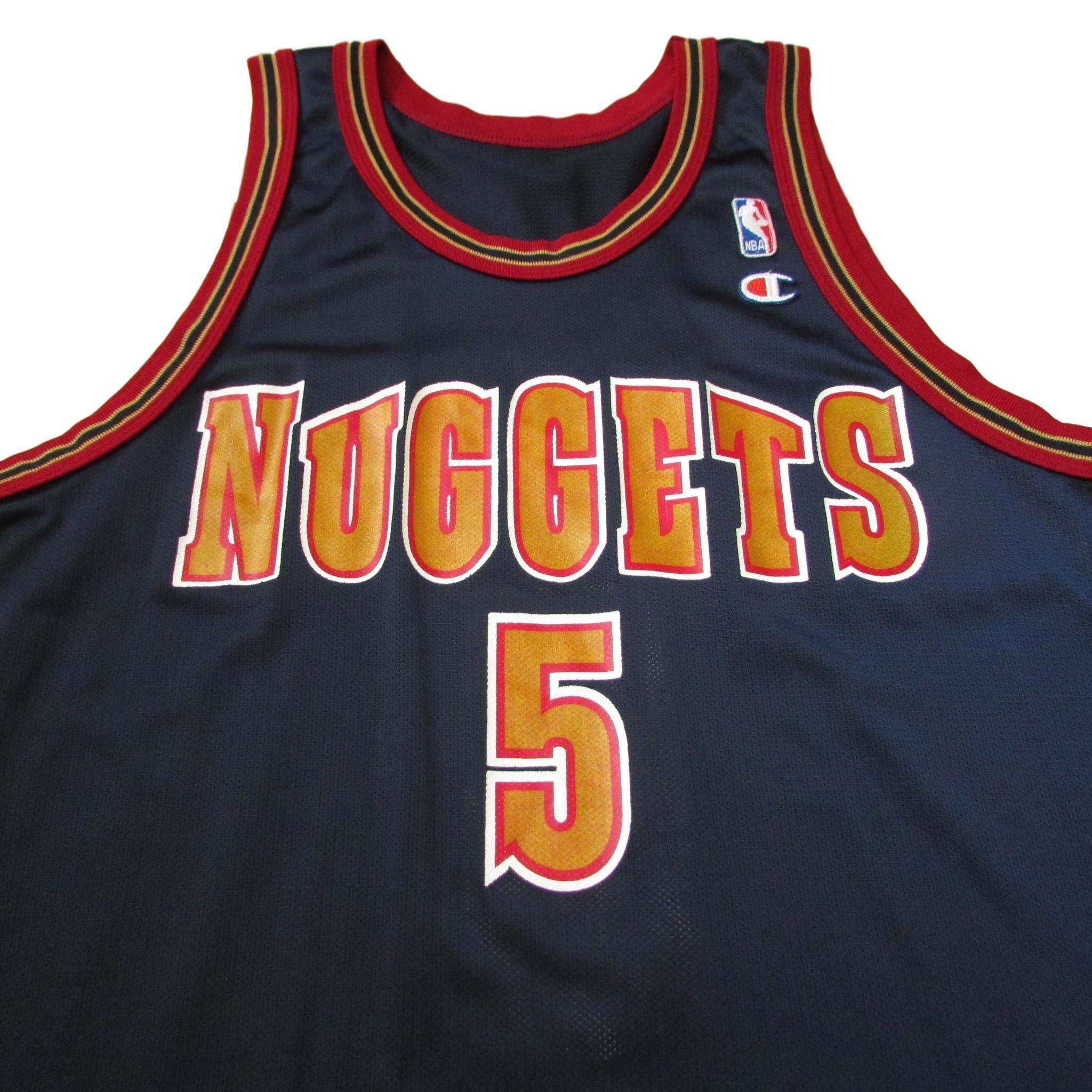Denver Nuggets Jalen Rose Rookie Season 1994 Champion Jersey Sz 44