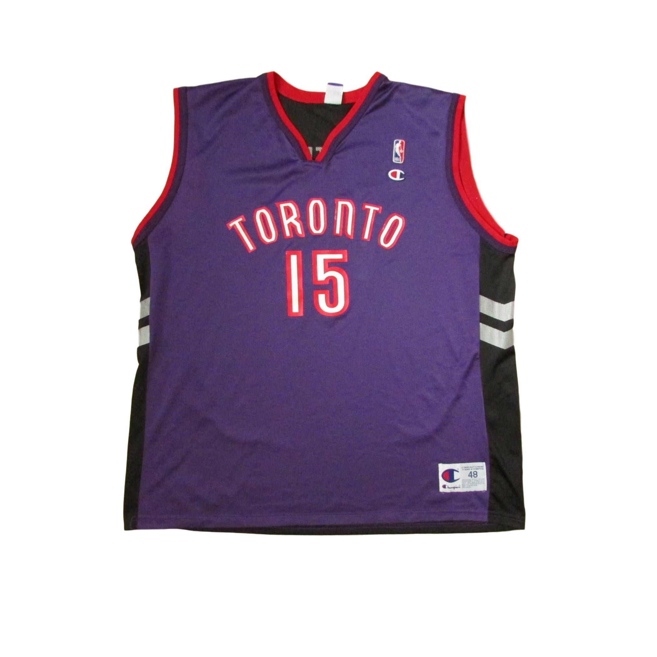 Toronto Raptors Vintage Basketball Vince Carter CHAMPION Jersey Purple Sz 48