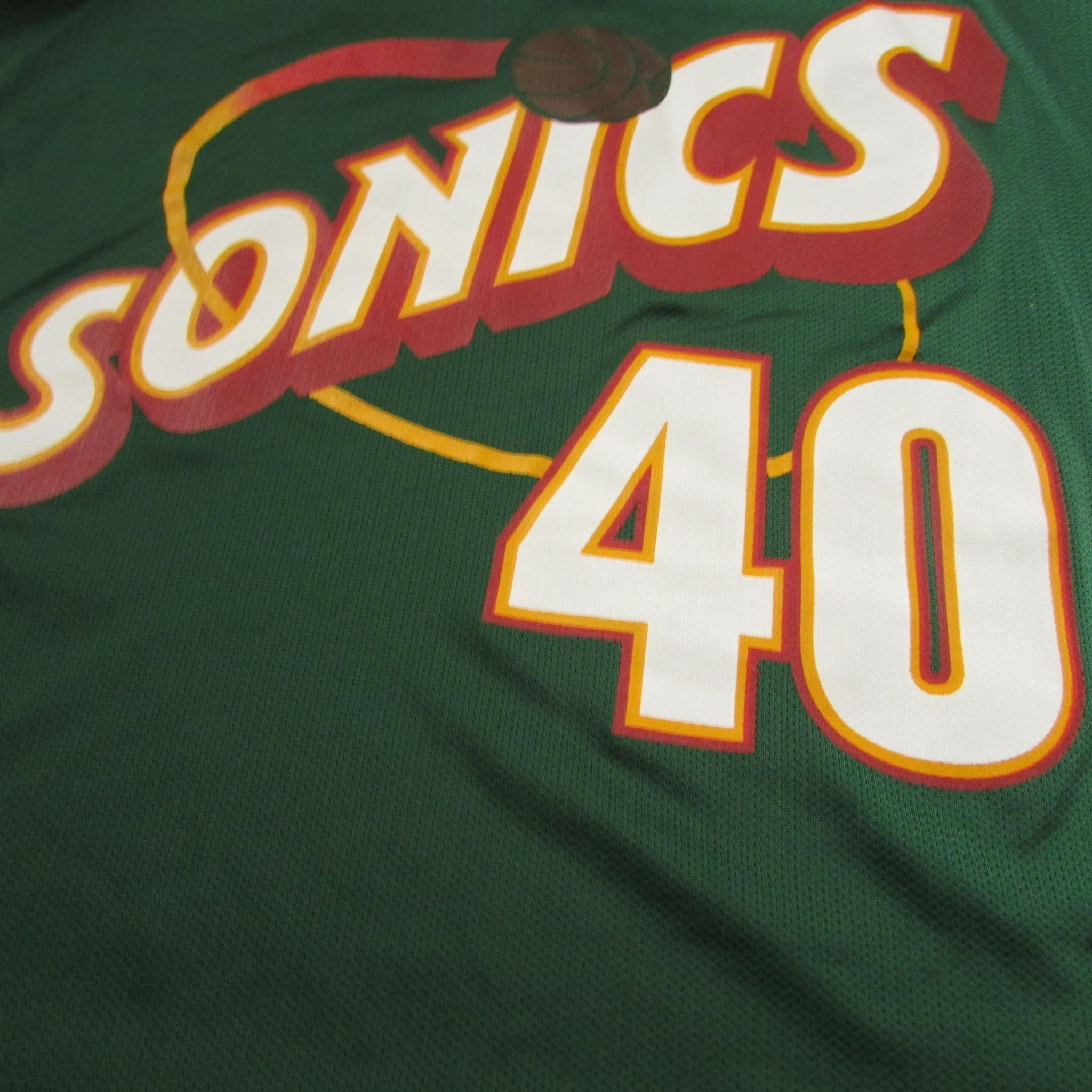 Seattle SuperSonics Shawn Kemp Vintage CHAMPION Jersey Sz 40